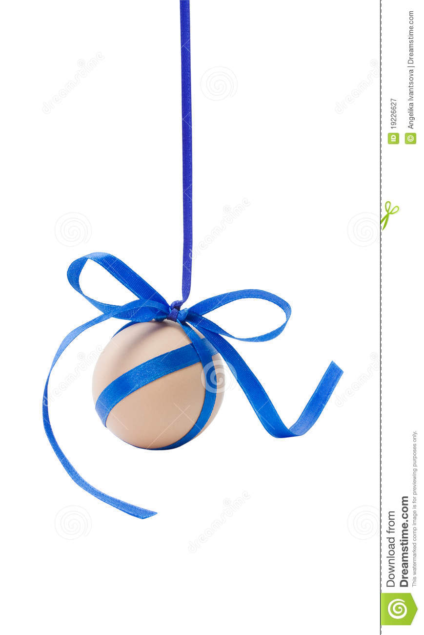 Hanging Wall Decor With Ribbon : Hanging egg with ribbon and bow stock image of
