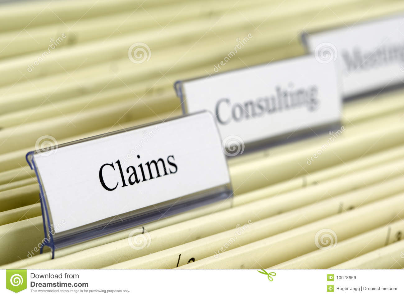 hanging file claims royalty free stock images