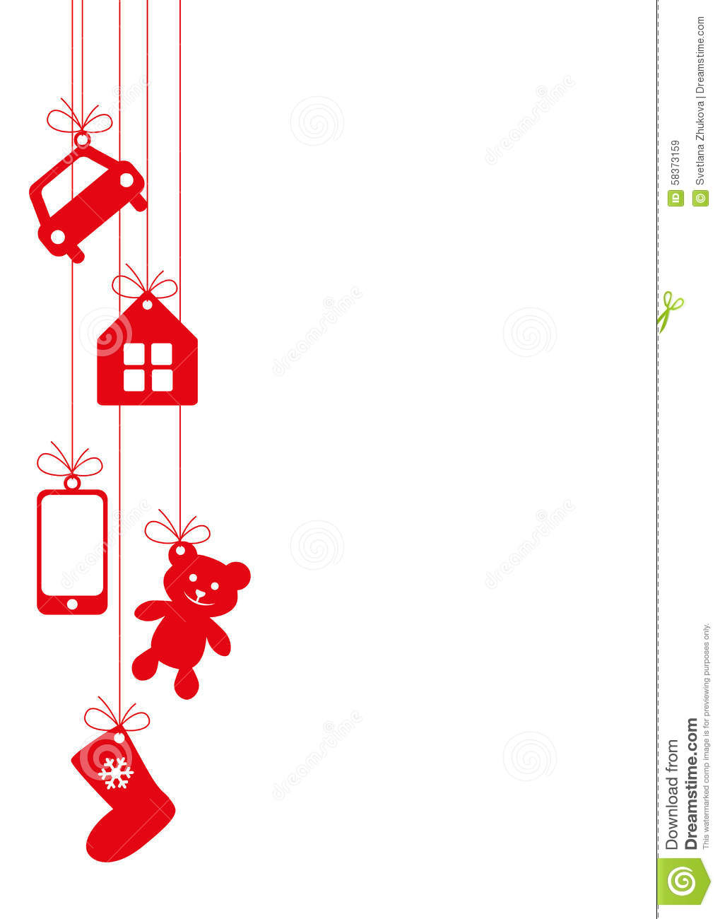 hanging gifts background stock image image of rich