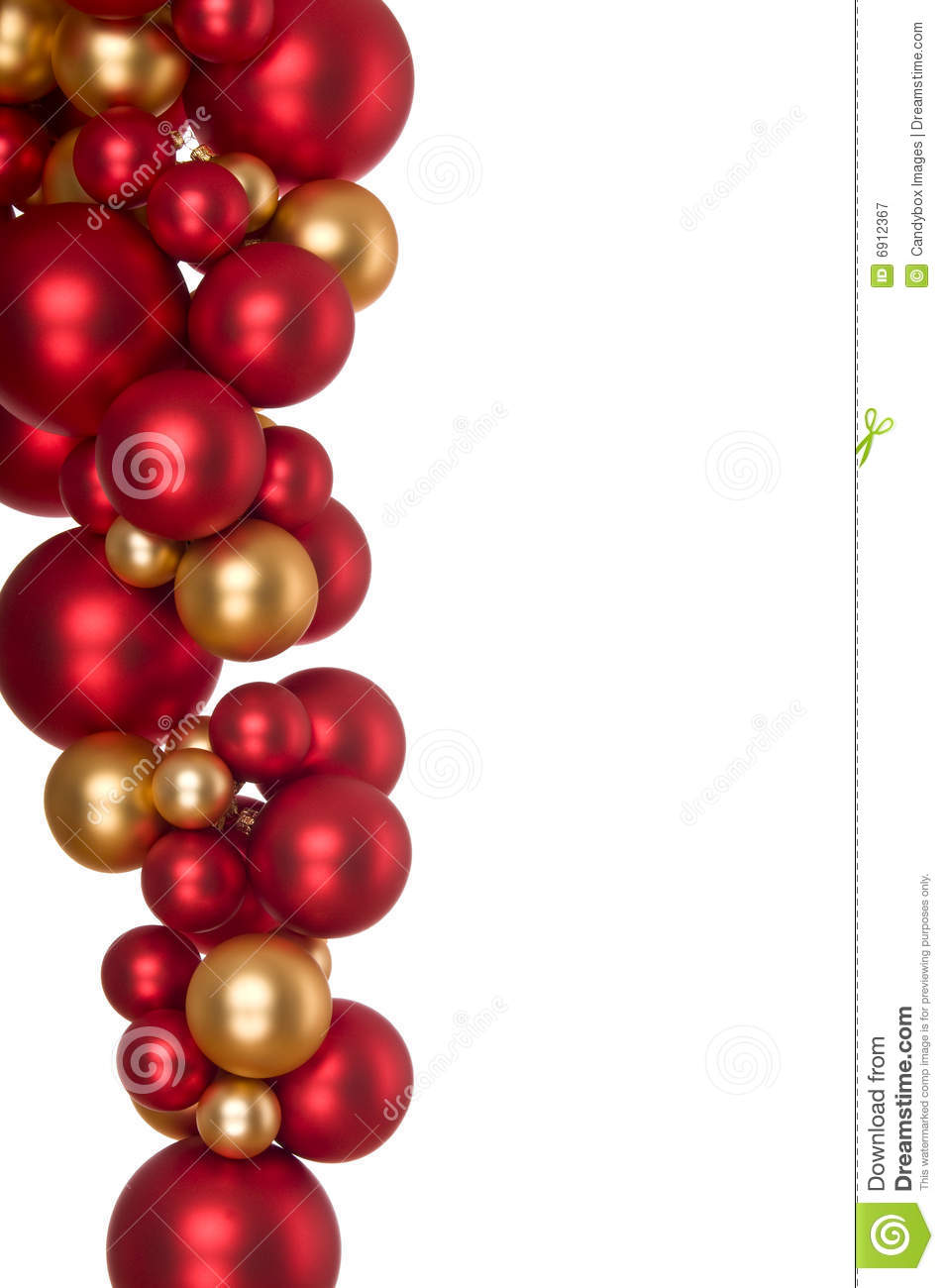 Red and gold christmas ornaments - Hanging Gold And Red Christmas Balls