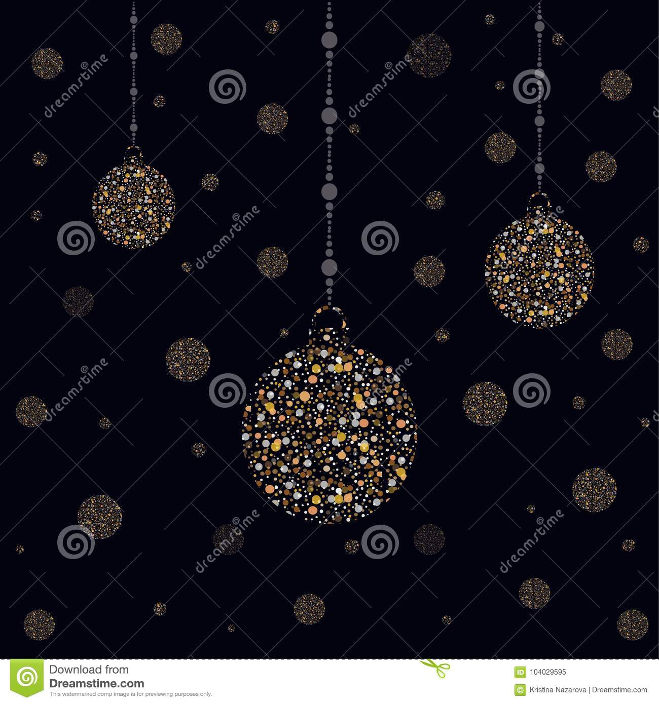 hanging golden ornaments for new year themes