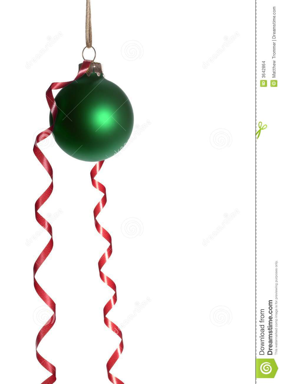 Hanging green christmas ornaments with red ribbon stock photo image 3642864 - Hanging christmas ornaments ...