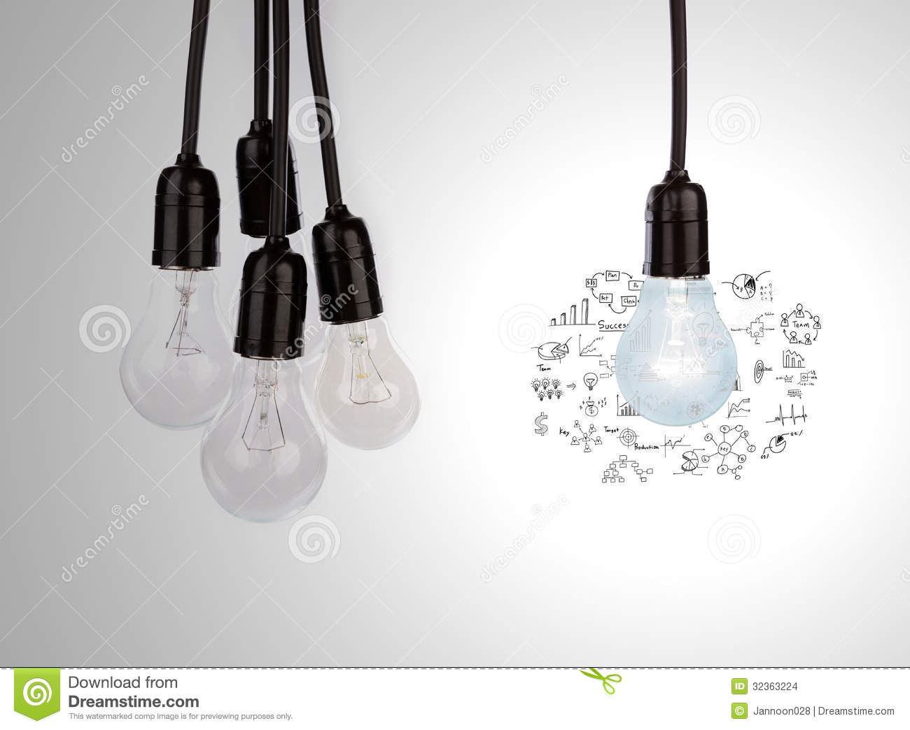 Hanging Light Bulb White Background Images & Pictures - Becuo