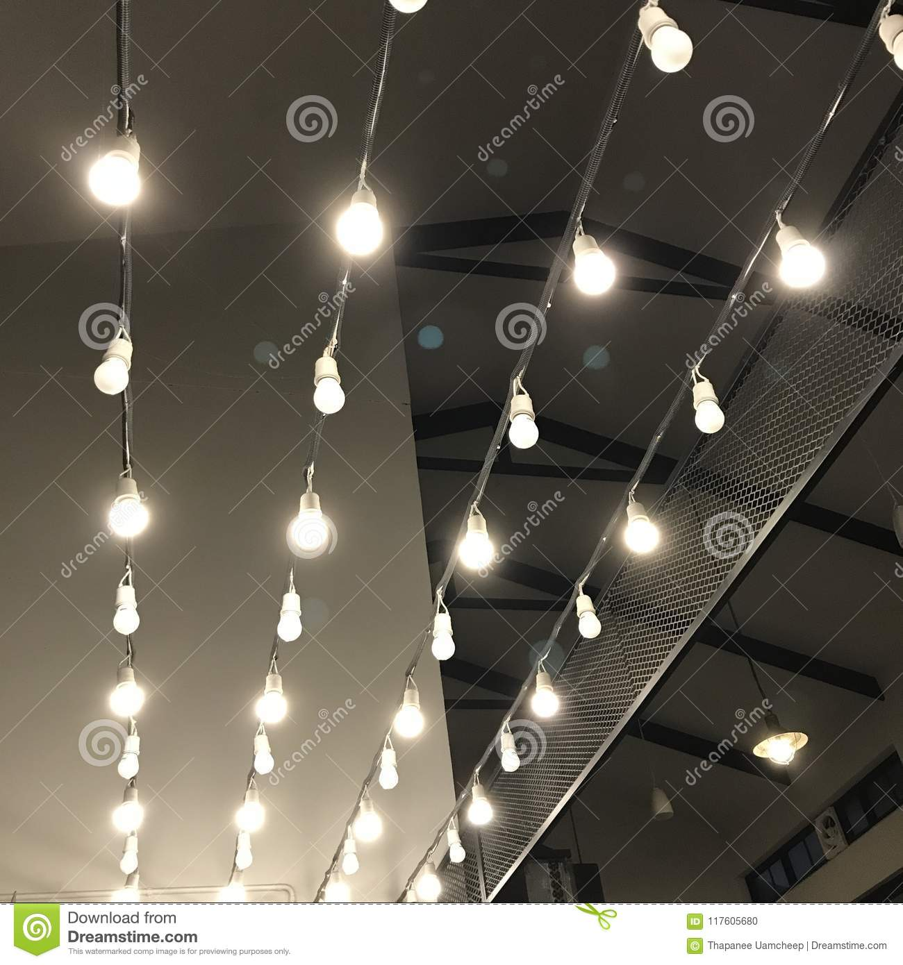 Hanging lights indoor decoration stock photo image of interior
