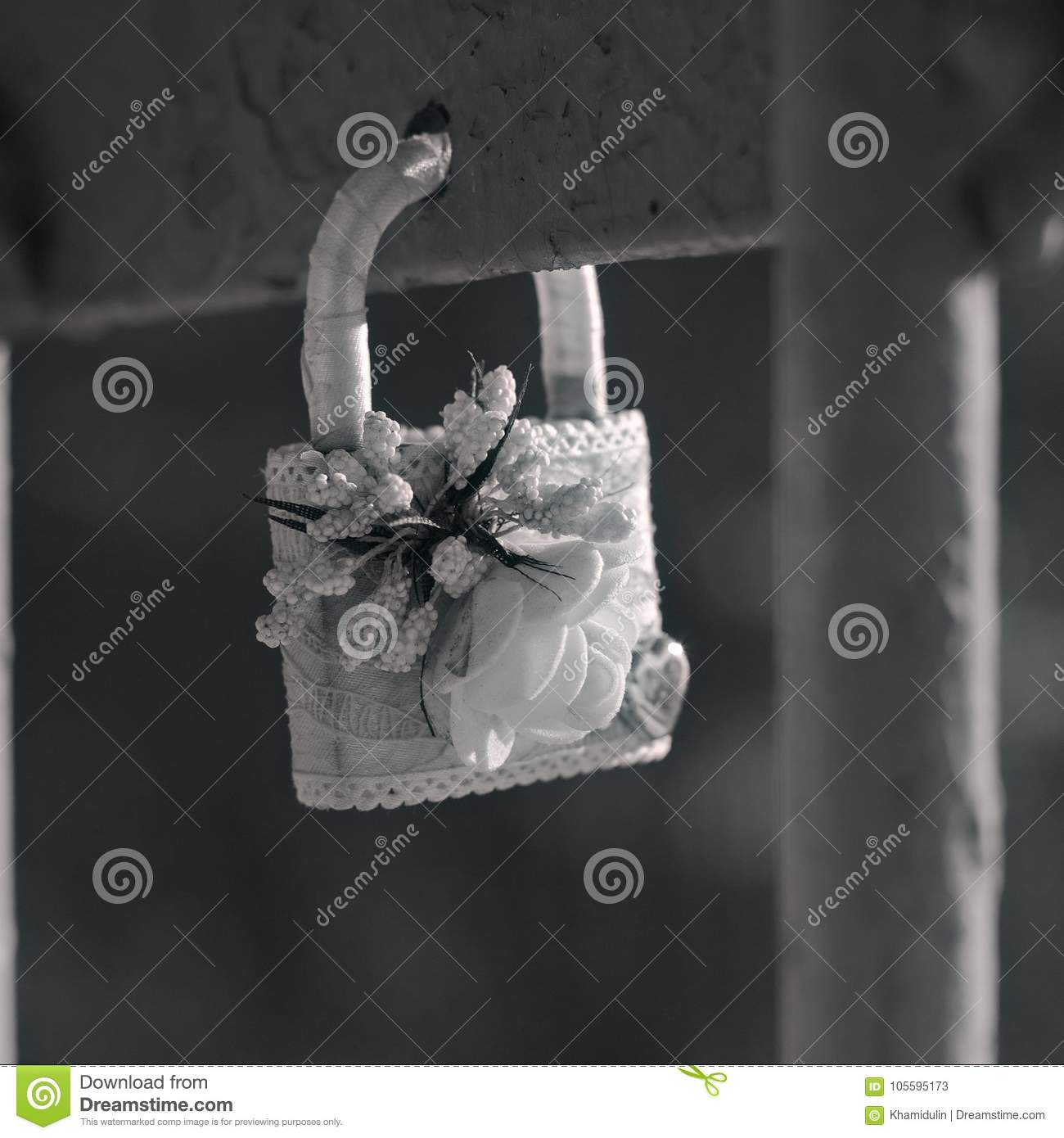 Hanging Lock As A Symbol Of Love And Loyalty Stock Image Image Of