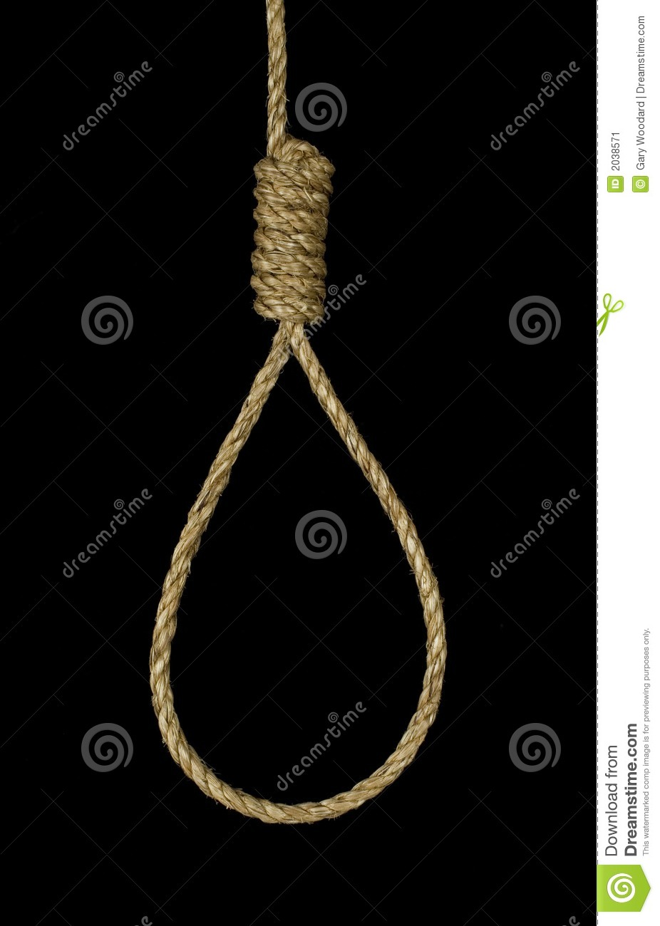 Hanging Noose Stock Image Image Of Knot Rope Tied 2038571