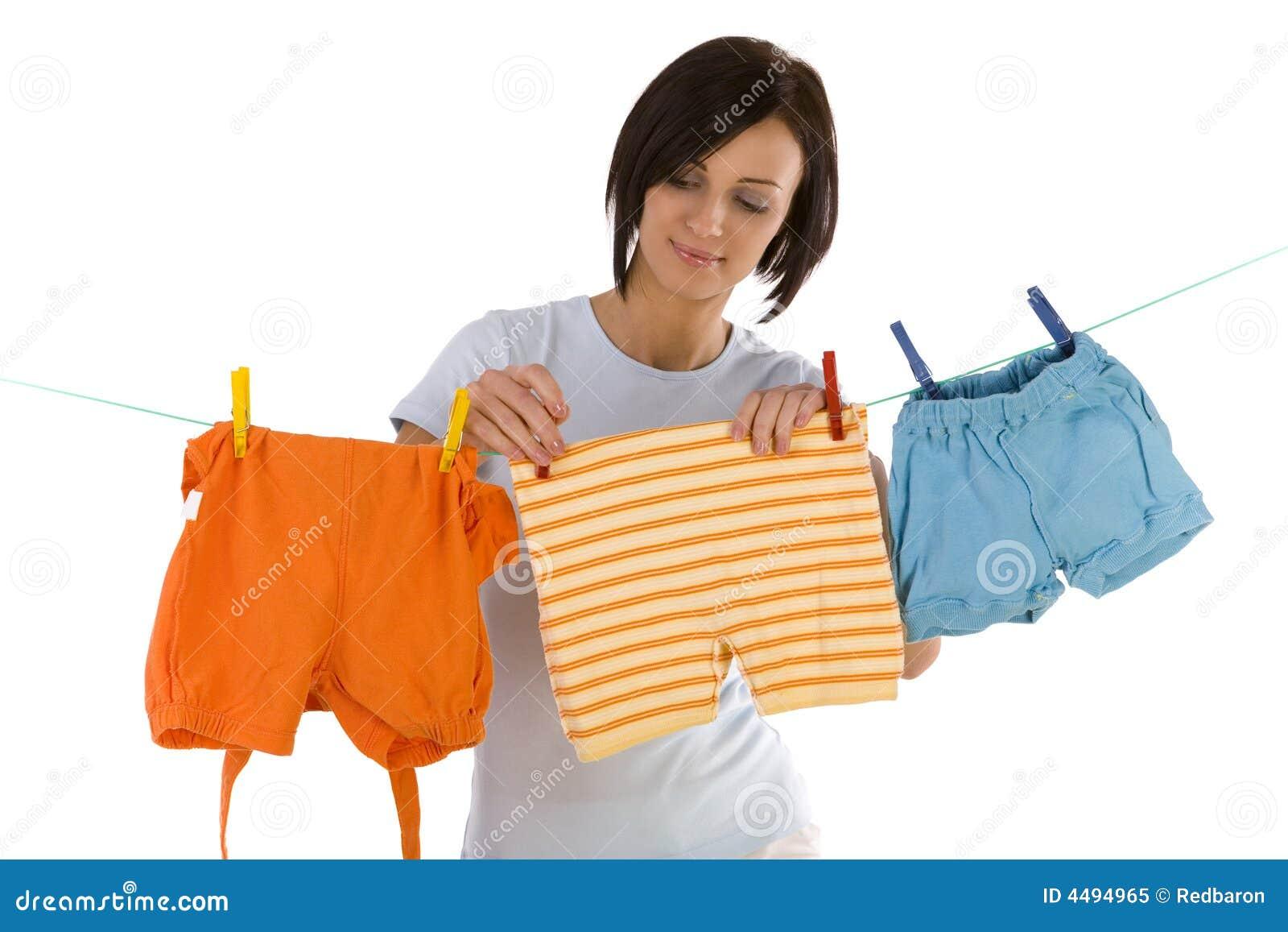 Hanging out washing