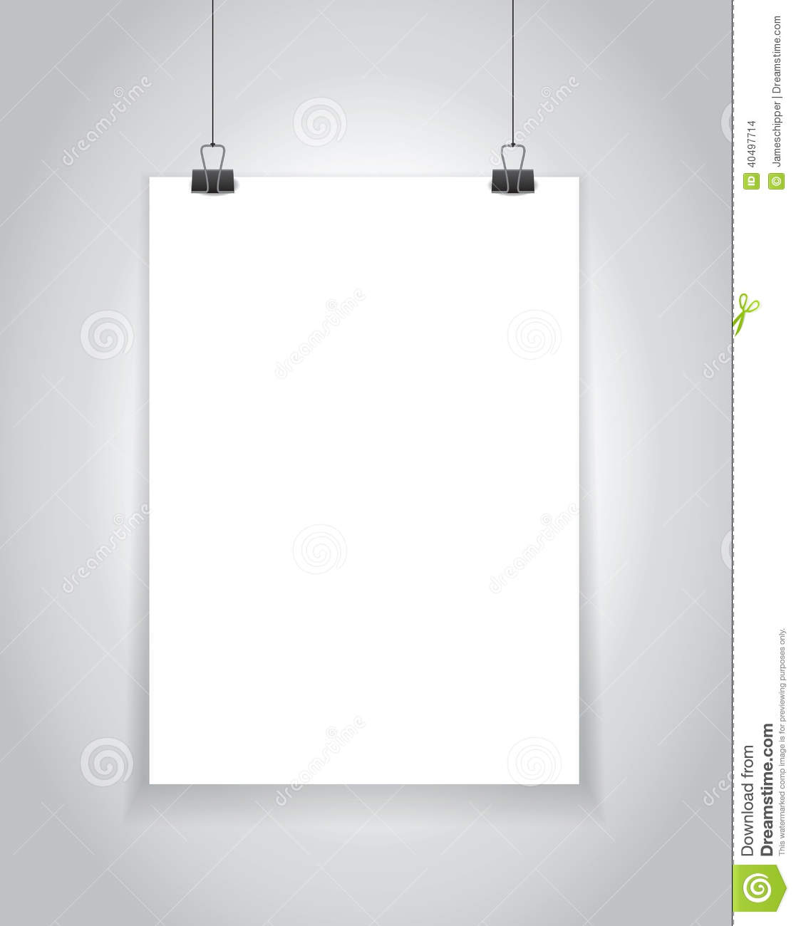 Hanging paper sign stock illustration image 40497714 for Template for hanging pictures
