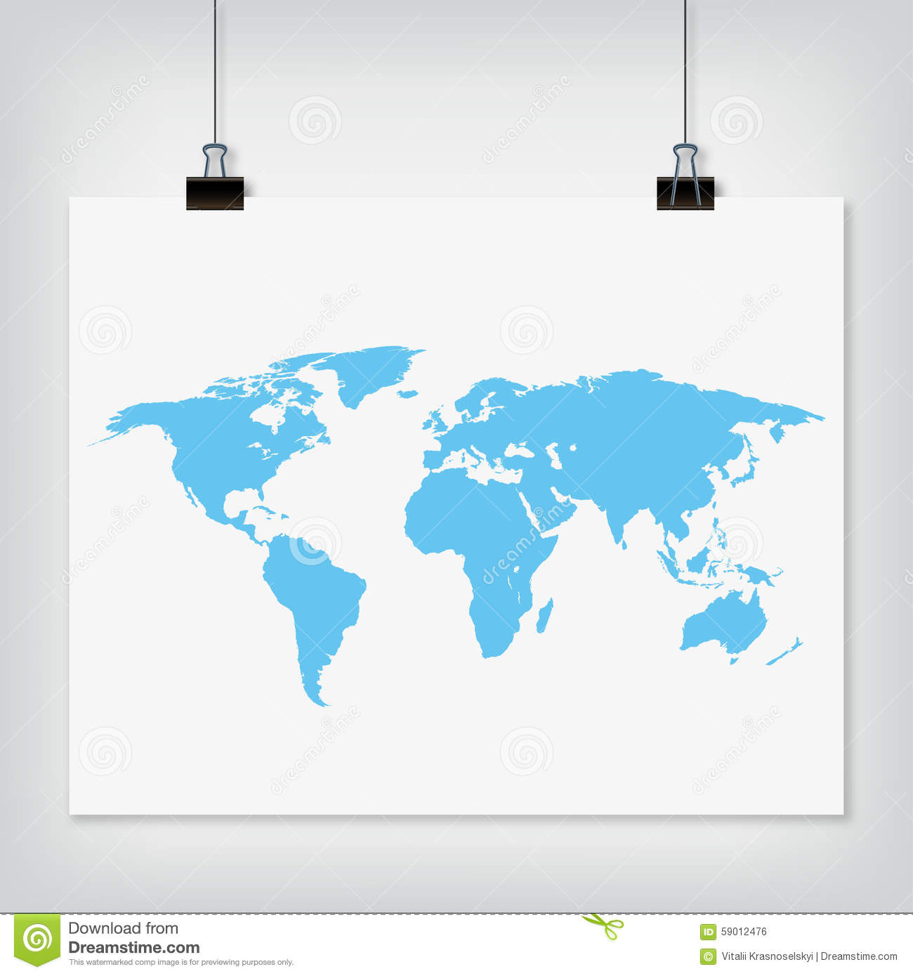 Hanging paper world map blue color sign with shadow stock vector hanging paper world map blue color sign with shadow stock vector illustration of gallery globe 59012476 gumiabroncs Choice Image