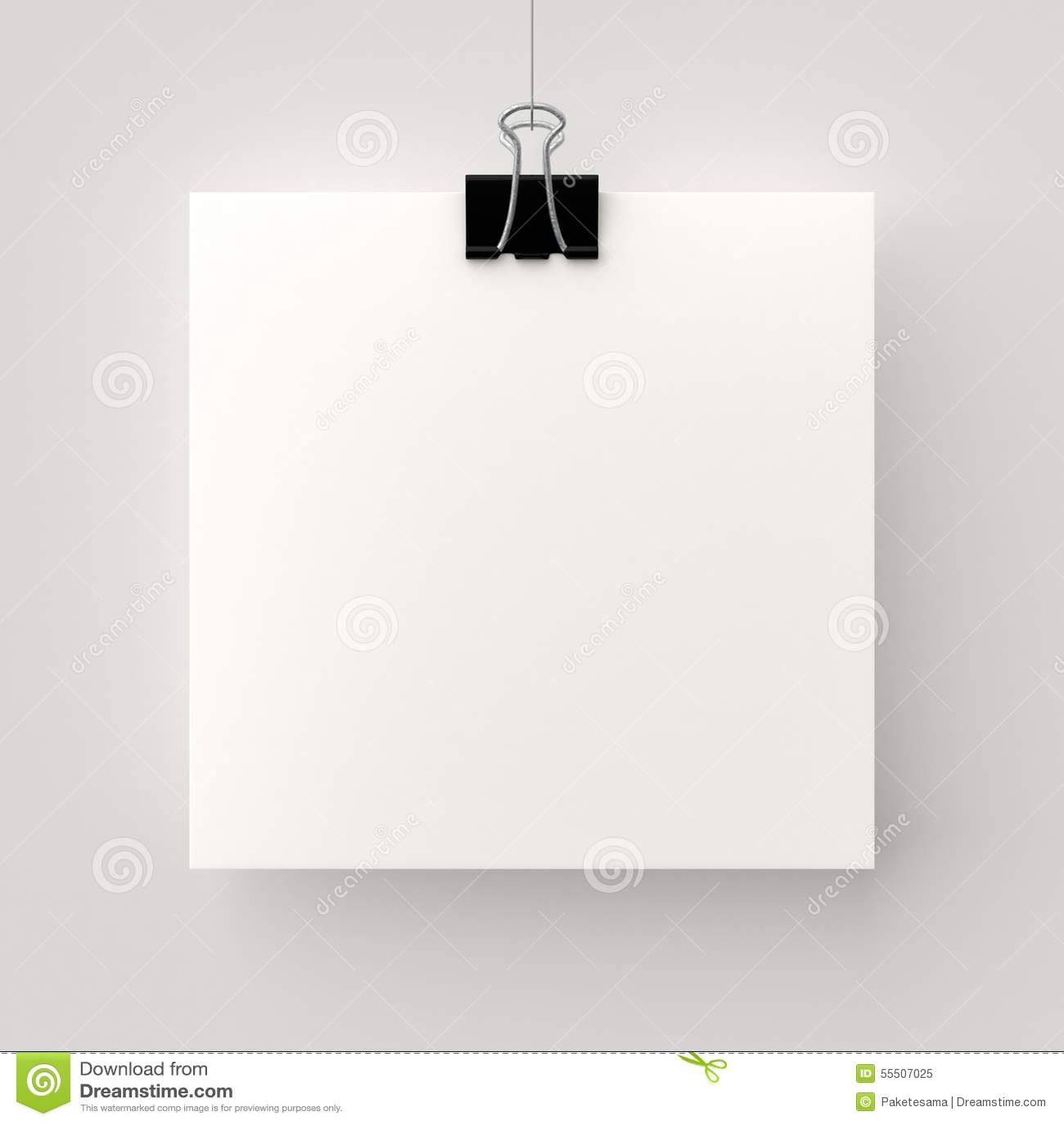 Hanging Poster Stock Illustration Image 55507025