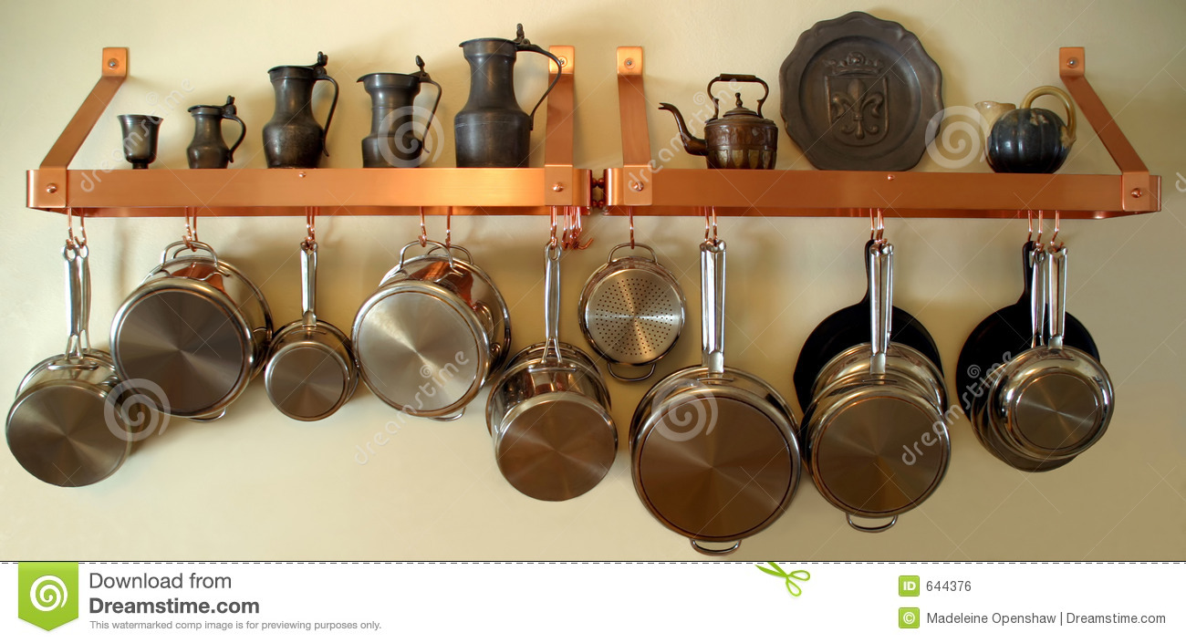 Hanging Pots And Pans 3 Stock Photo Image Of Iron Made