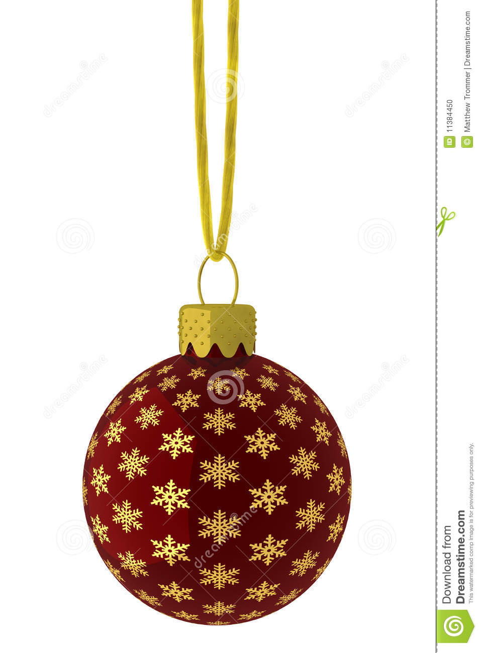 Hanging red and gold snowflake ornament stock photo image 11384450 - String ornaments christmas ...