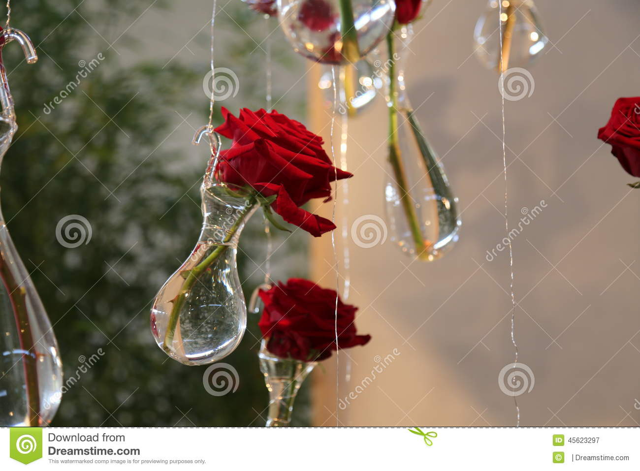 Rose flower glass beauty fragility dream love soaring red crystal ...