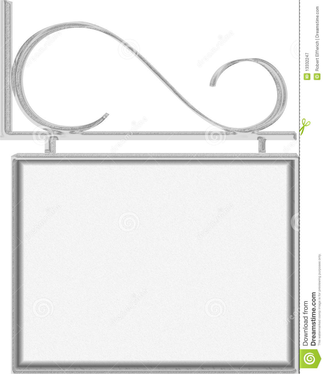 Hanging Sign With Frame For Text Stock Illustration - Illustration ...