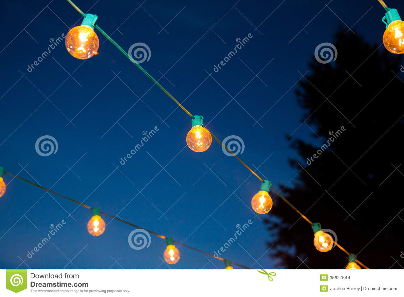Hanging Strands Of Lights Stock Photo Image Of Parties 35627544