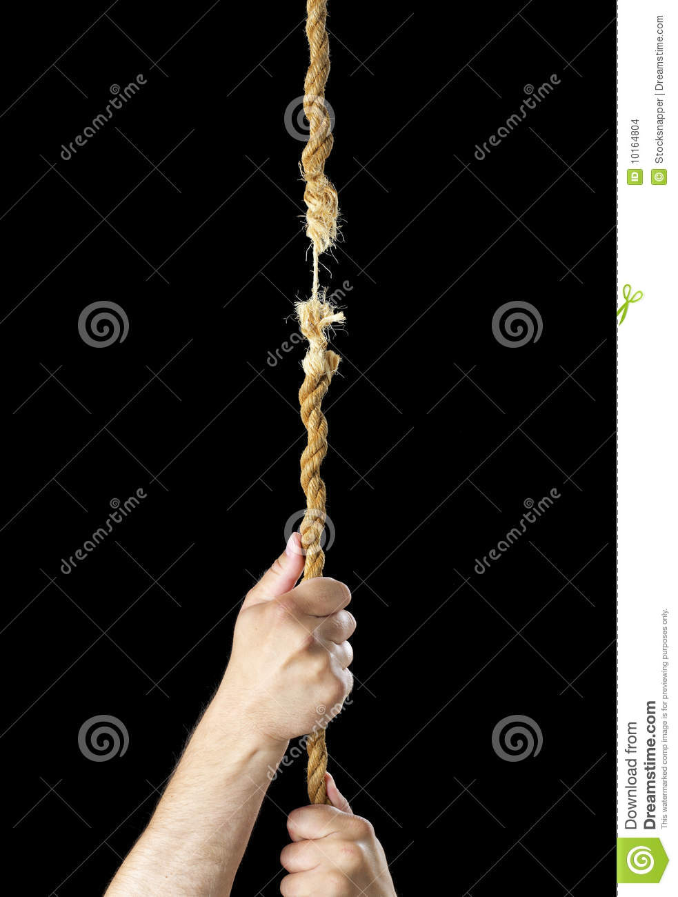 Hanging By A Thread Stock Images - Image: 10164804