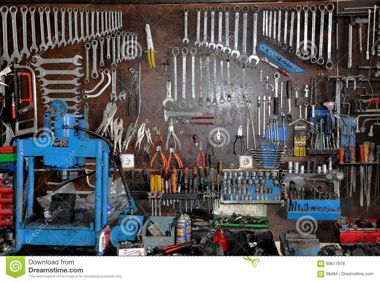 Hanging Tools Stock Photo Image 69617978