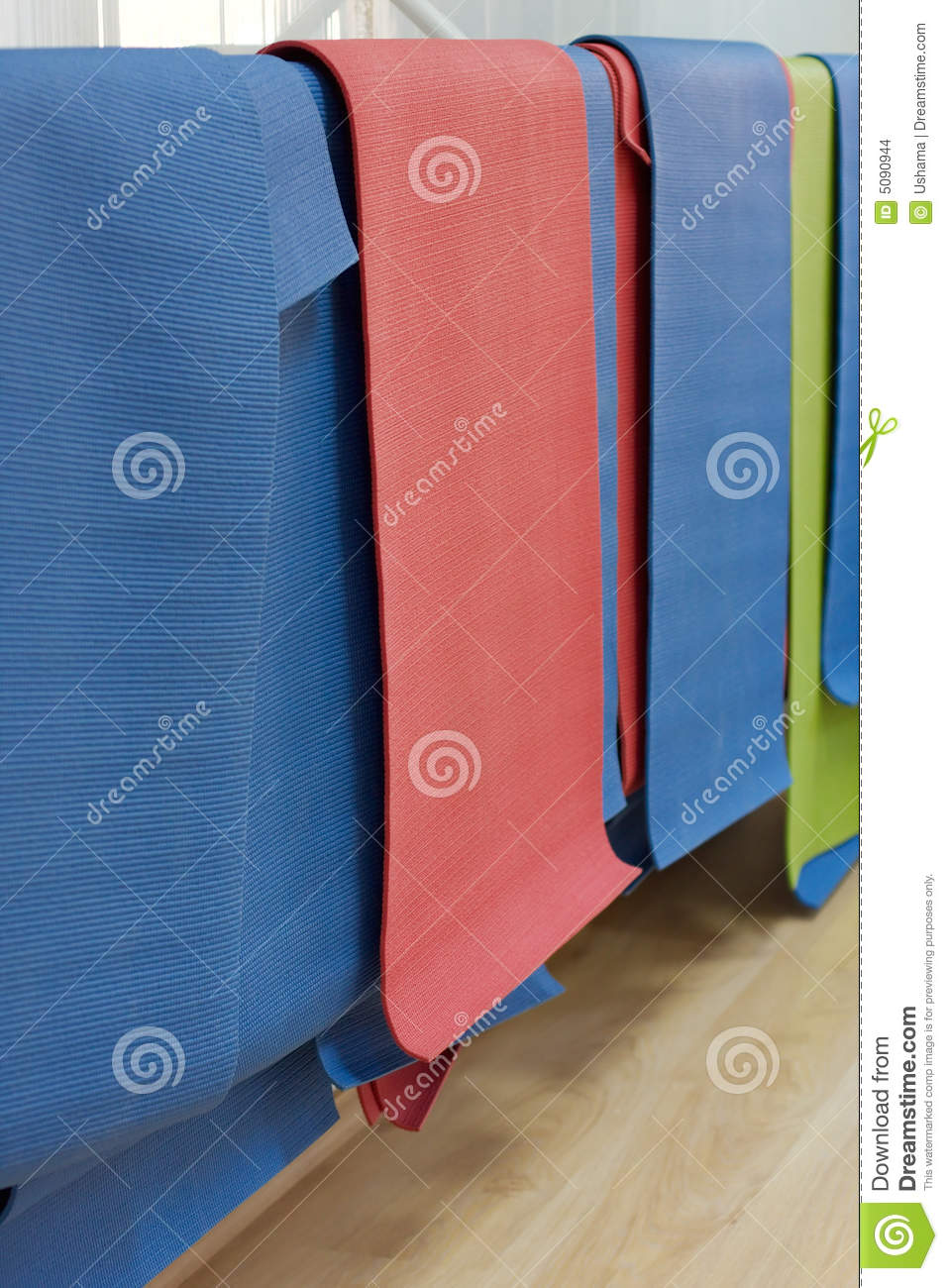 Hanging Yoga Mats Stock Images Image 5090944
