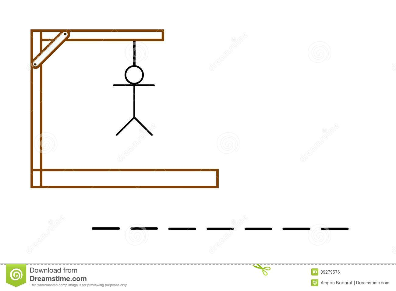 Hangman Game On White Background Stock Illustration
