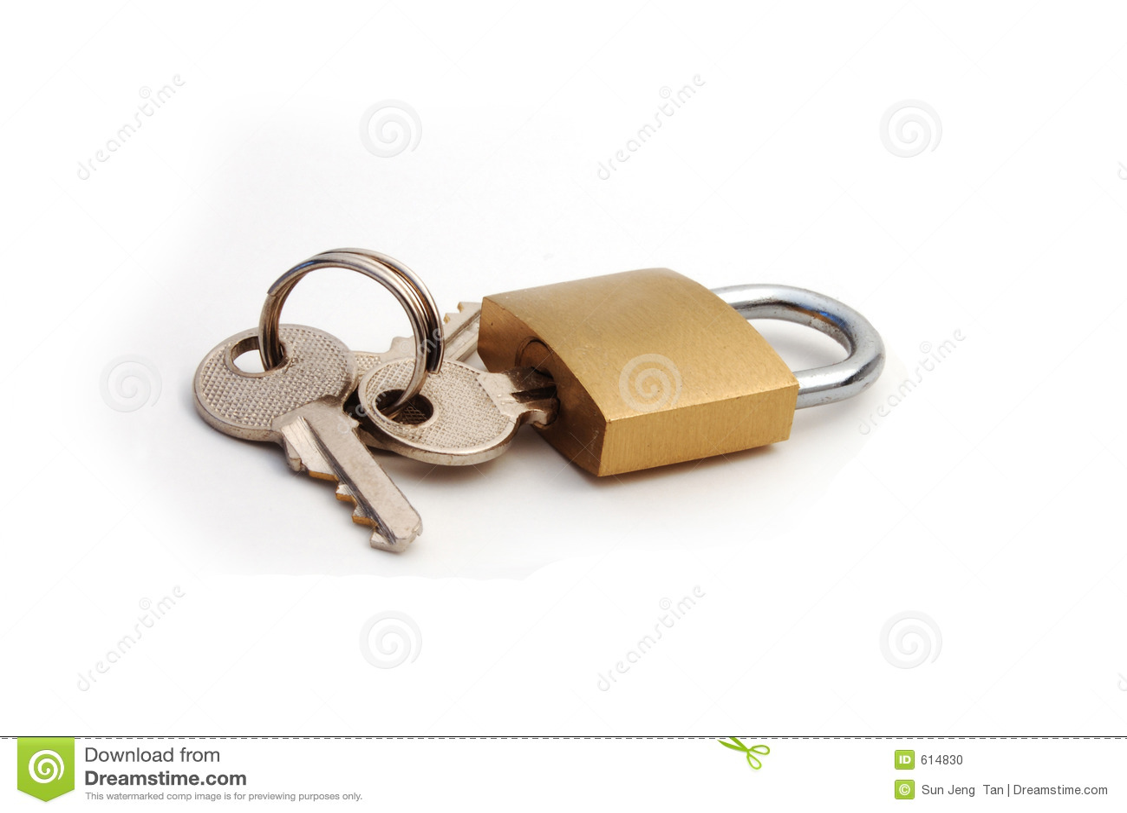Hangslot met sleutel