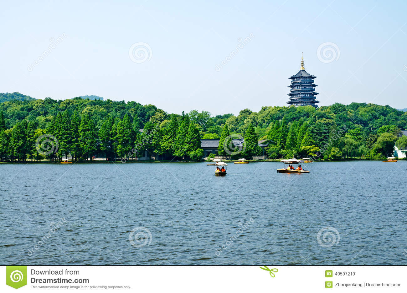 Hangzhou West Lake Scenery  In China Editorial Image