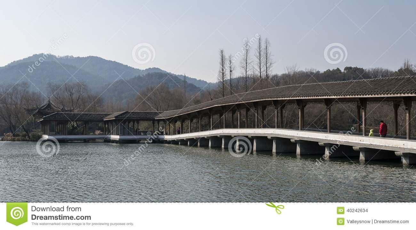 Hangzhou West Lake Scenic Area Stock Photo