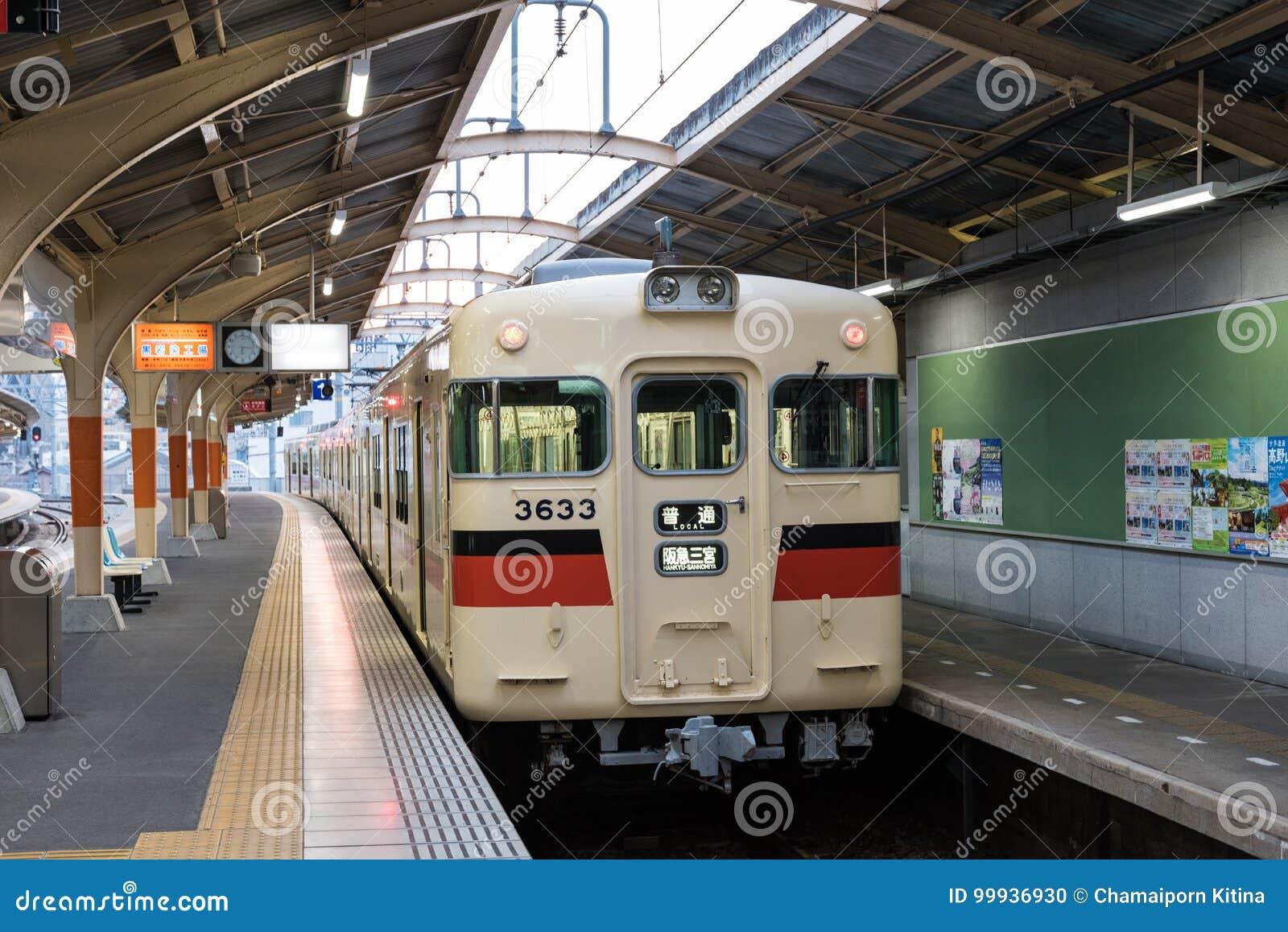Hankyu-Sannomiya Line Of Local Train Editorial Image - Image