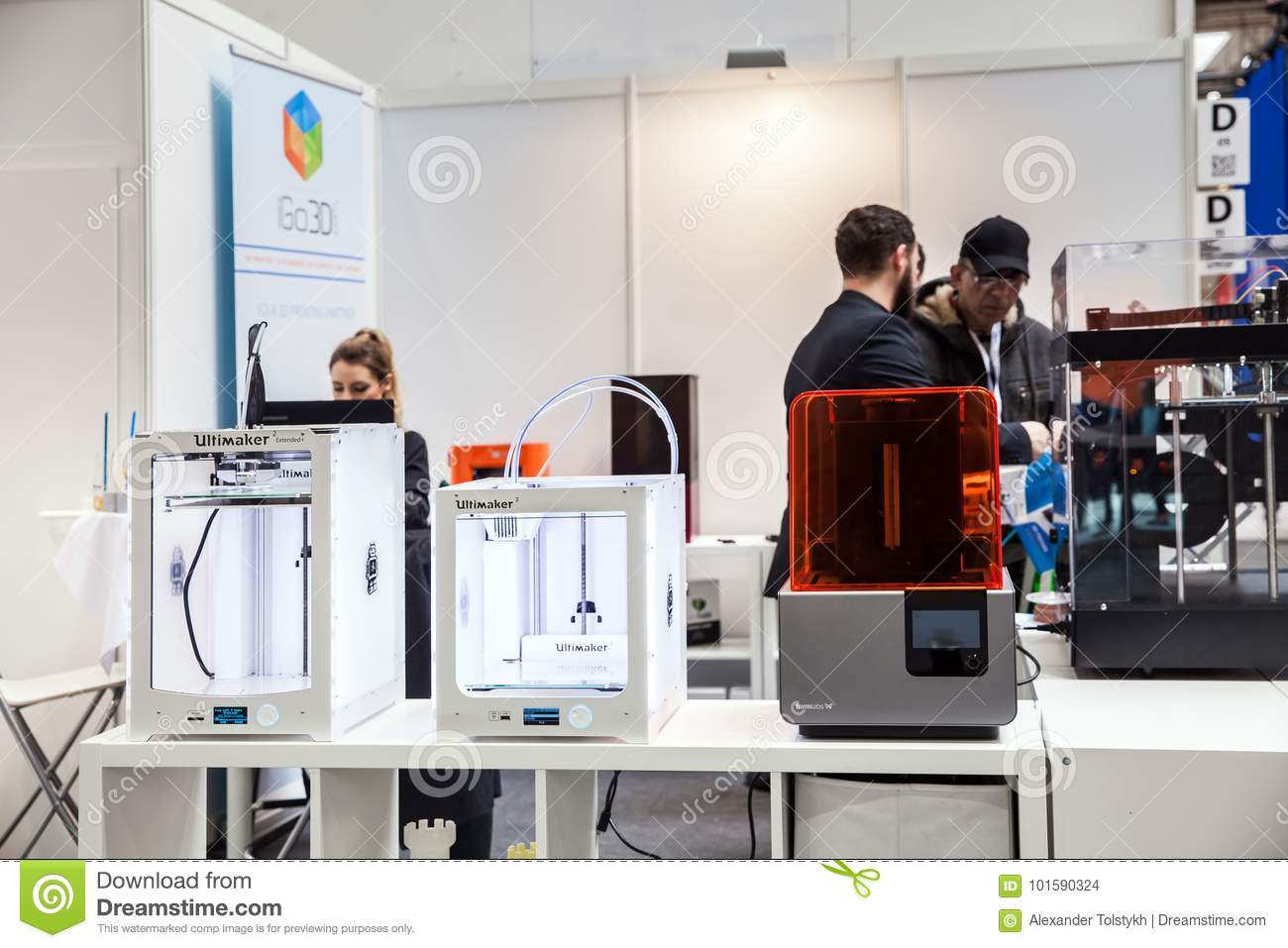 D Printer Exhibition Germany : D printers ultimaker igo d on exhibition cebit in hannover