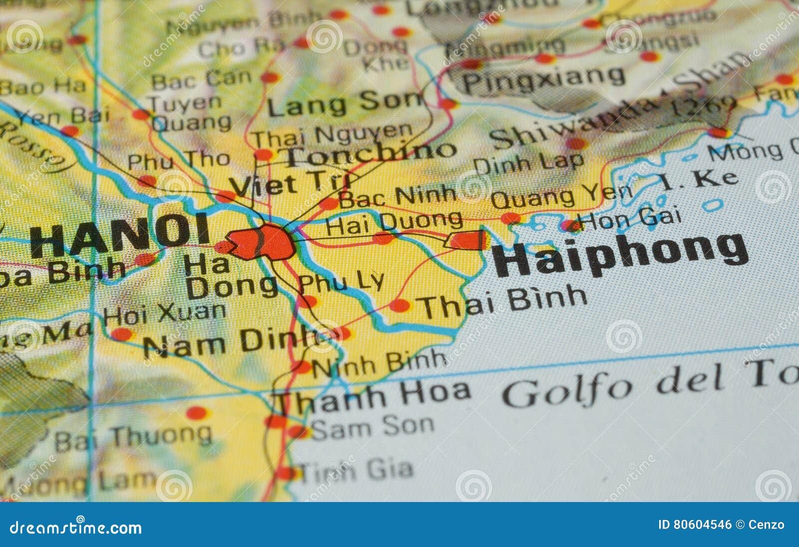 Ha Noi Vietnam Map.Hanoi Road Map Stock Photo Image Of Minh Vietnam Tourism 80604546