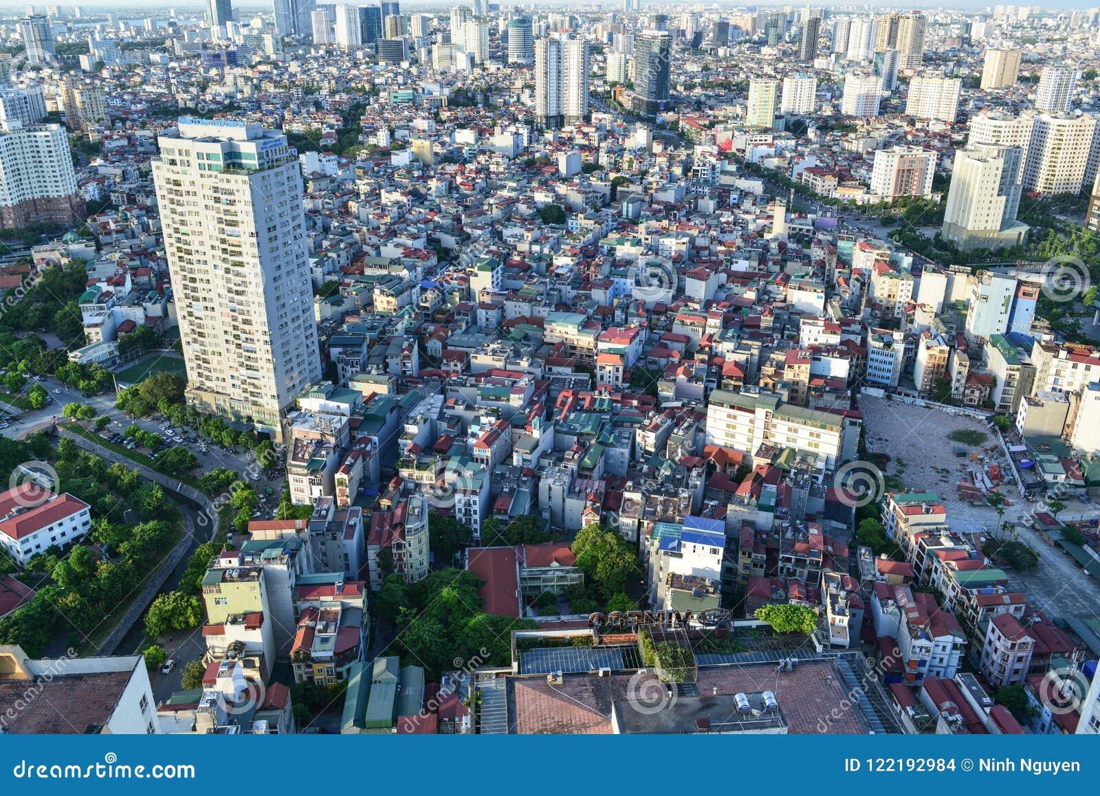 Hanoi Views From Above, Hanoi City, Vietnam Stock Photo - Image of