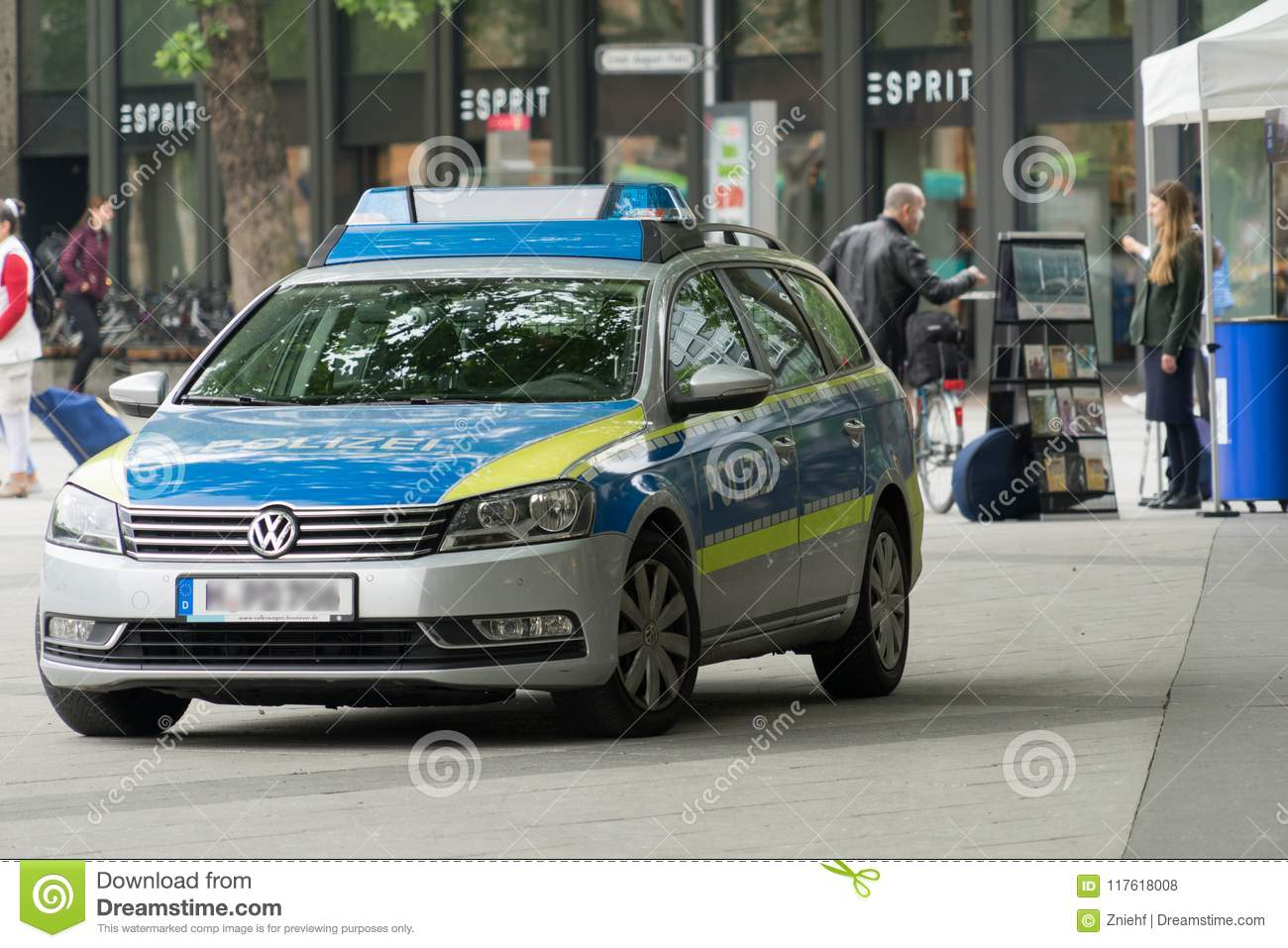 Hanover, Lower Saxony, Germany, May 19, 2018: Police Car Standing On