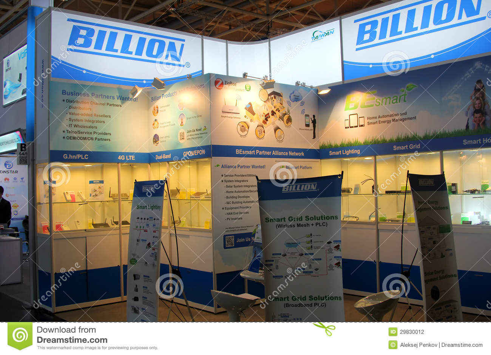 Tribune van Miljard bij de computer Expo van CEBIT