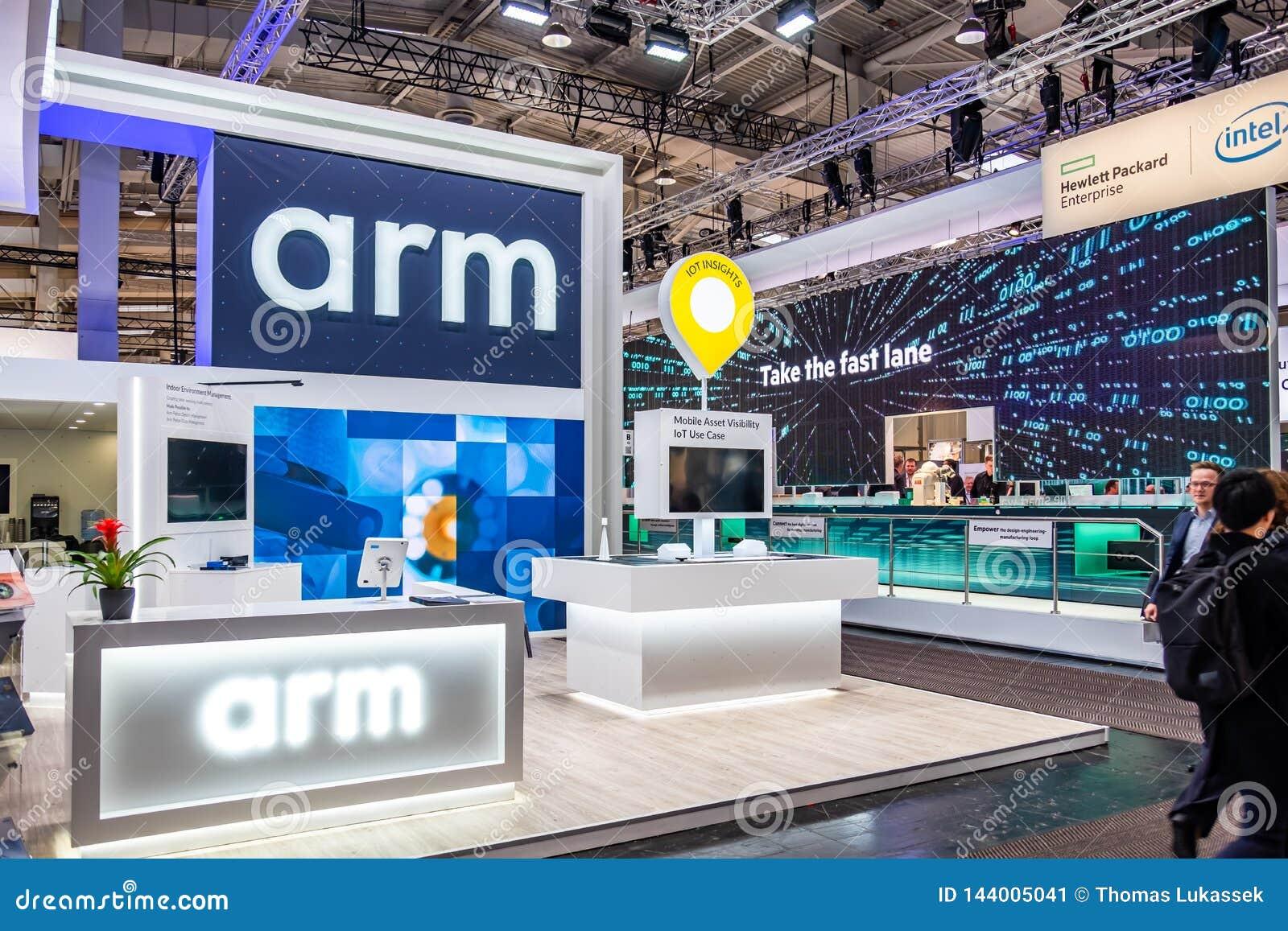 Hanovre, Allemagne - 2 avril 2019 : Le bras montre de nouvelles innovations ? Hanovre Messe