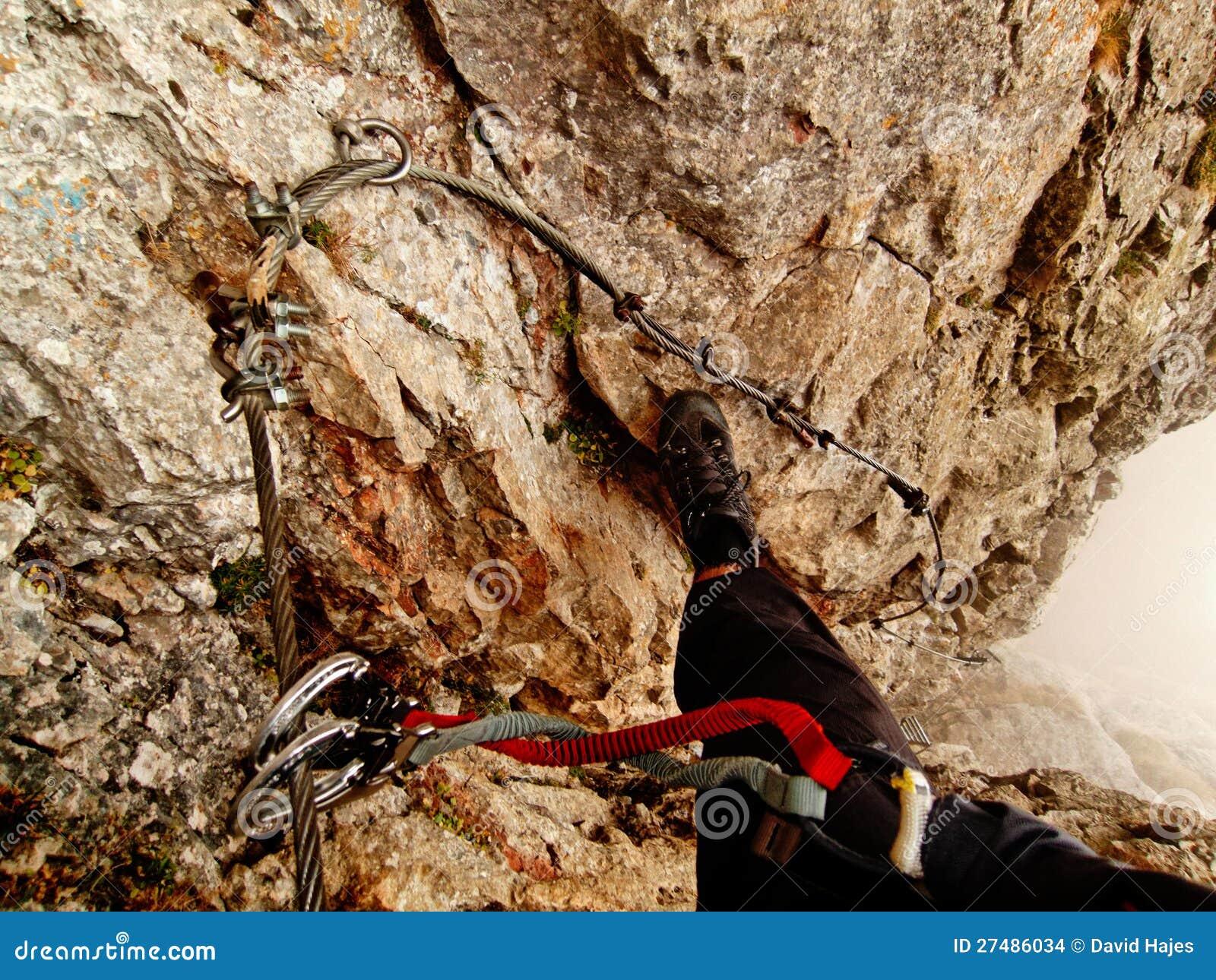 Klettersteig C : Hans von haid steig klettersteig c d stockfoto bild wand
