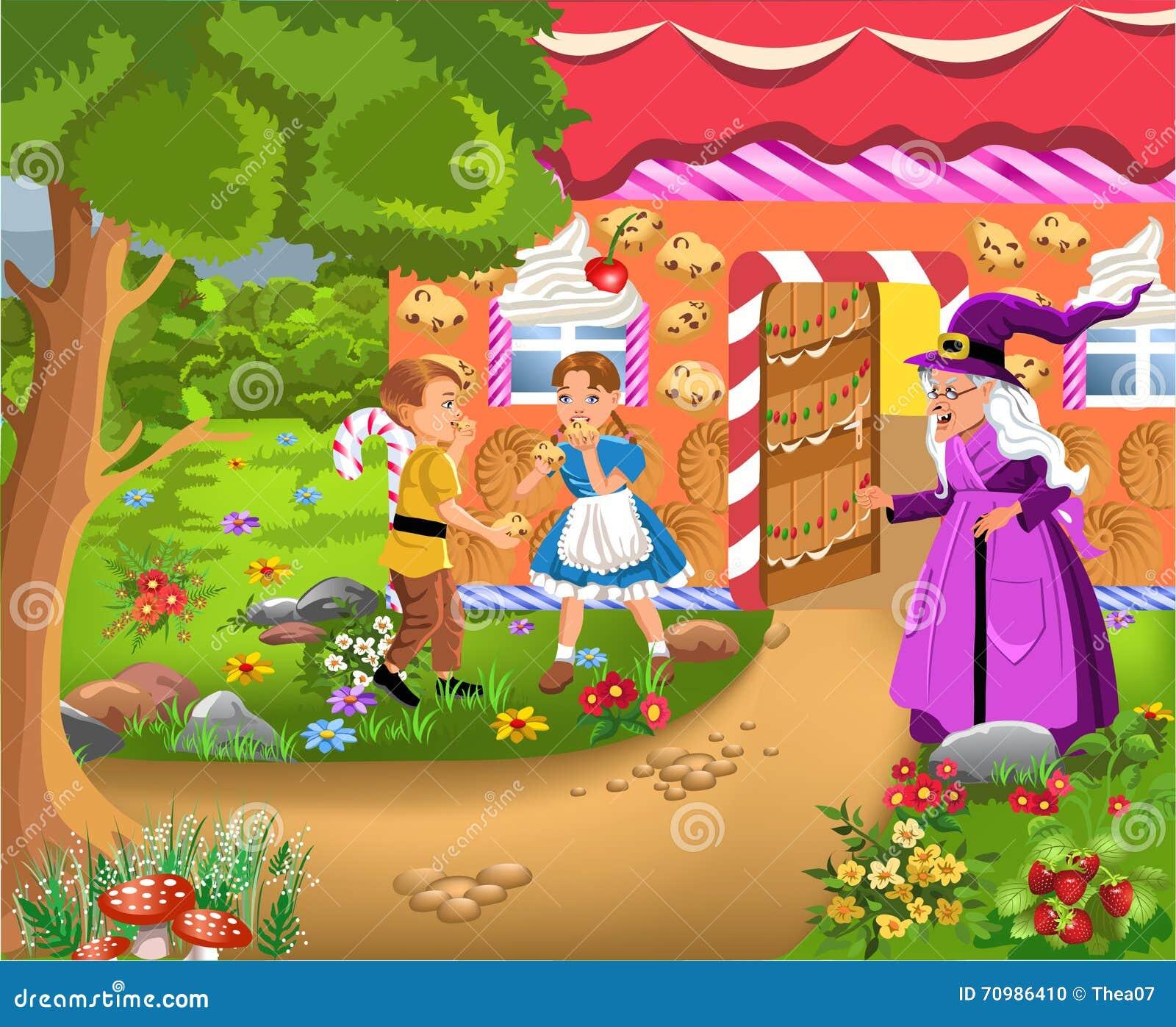 Hansel Et Gretel Illustration De Vecteur Image 70986410