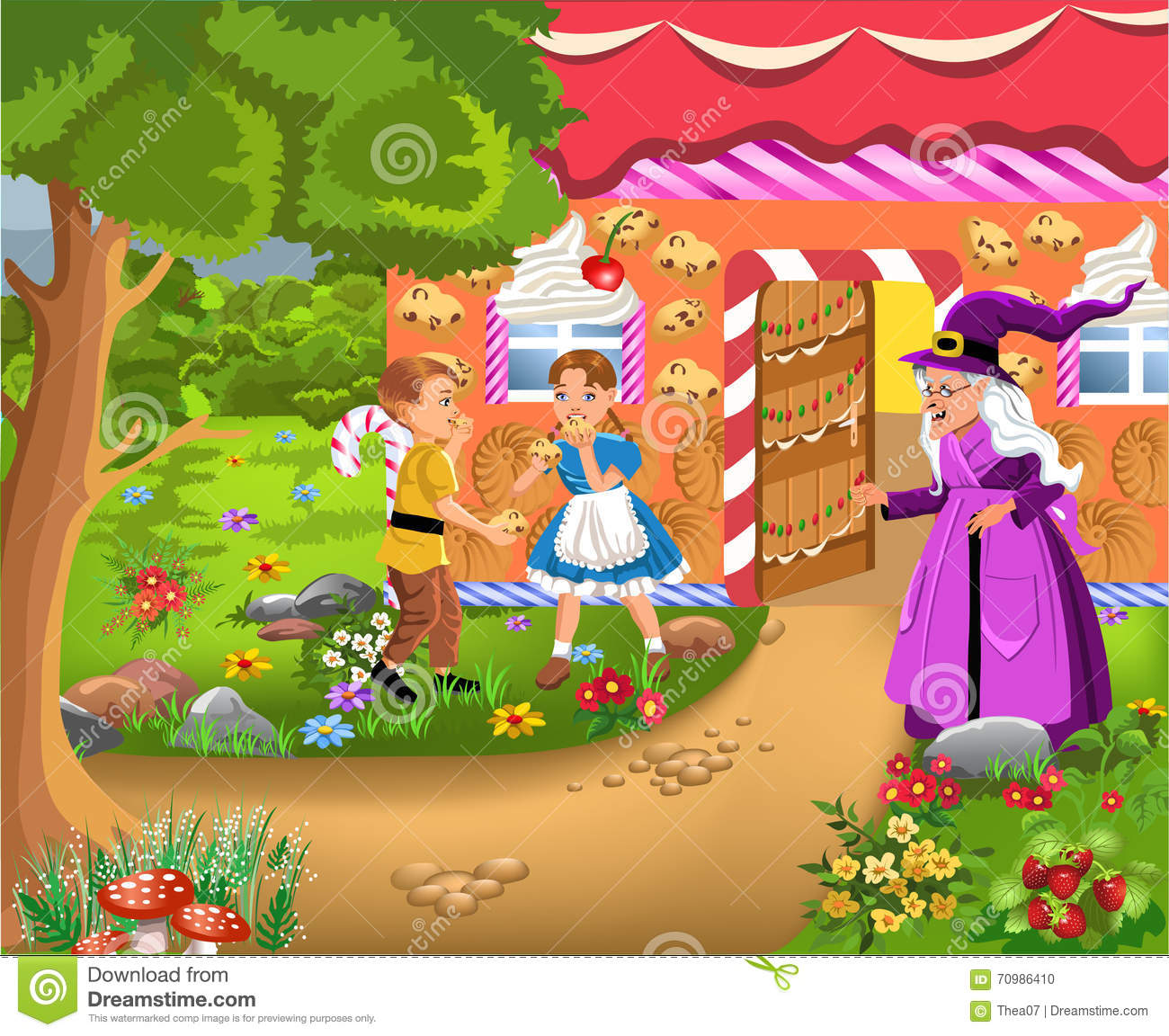 hansel and gretel stock vector. illustration of brother - 70986410