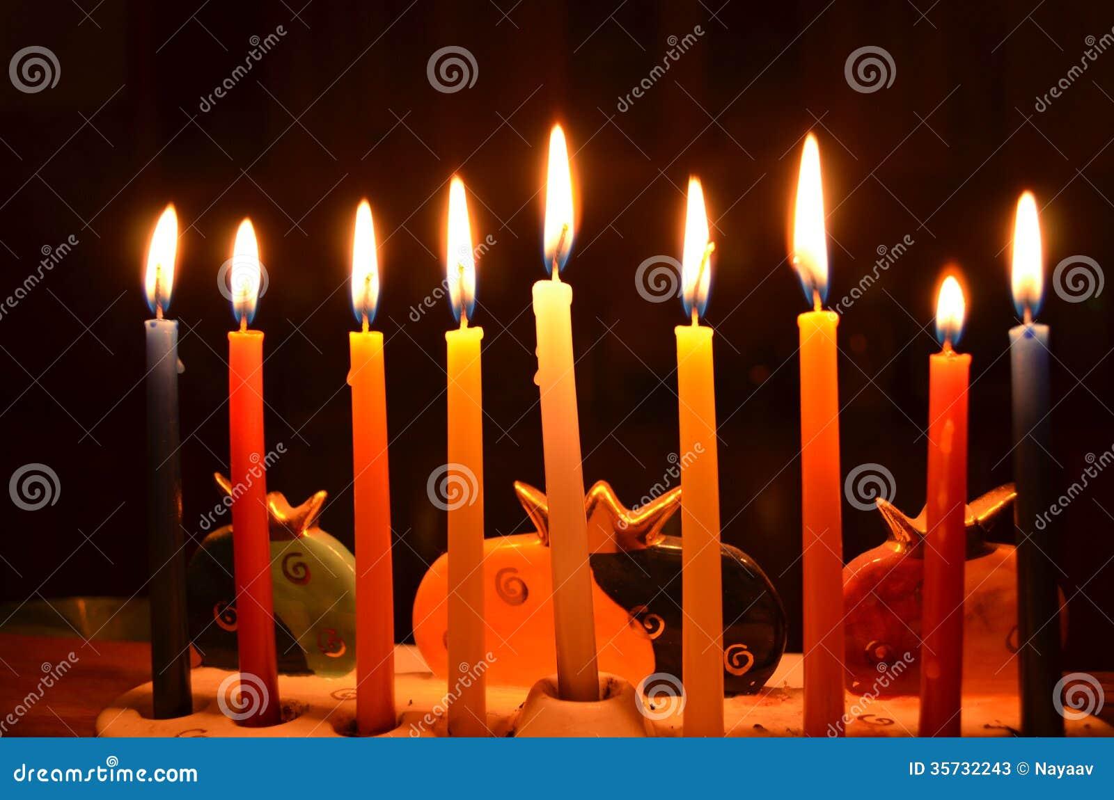 Hanukah蜡烛