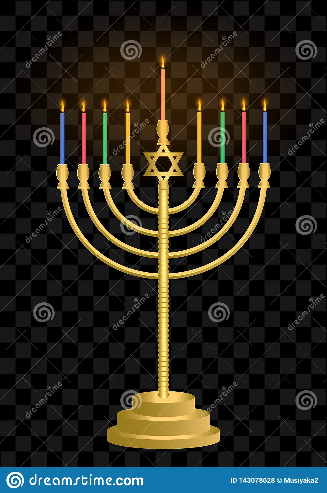 Hanukkah candlestick. Hanukkah. Jewish holiday candles. Jewish festival of light