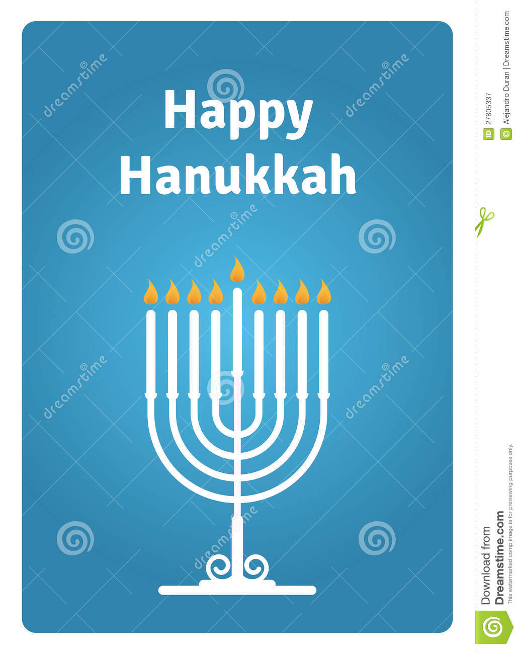 Hanukkah Card Candle Royalty Free Stock Photography - Image: 27805337