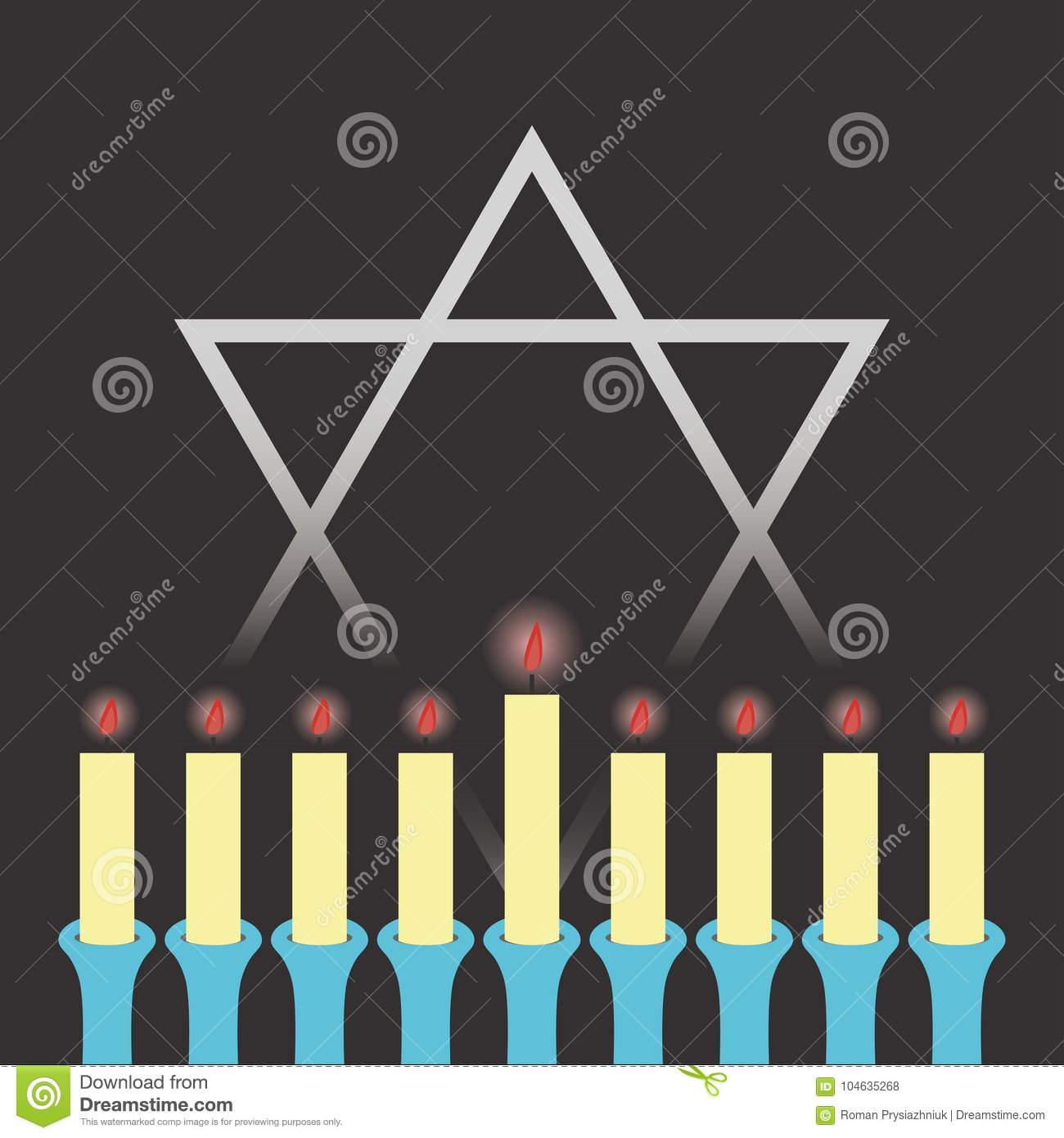Download Hanukkah 3D Illustratie Kaarsen In Een Kandelaar Vector Vector Illustratie - Illustratie bestaande uit ceremonie, hanuka: 104635268