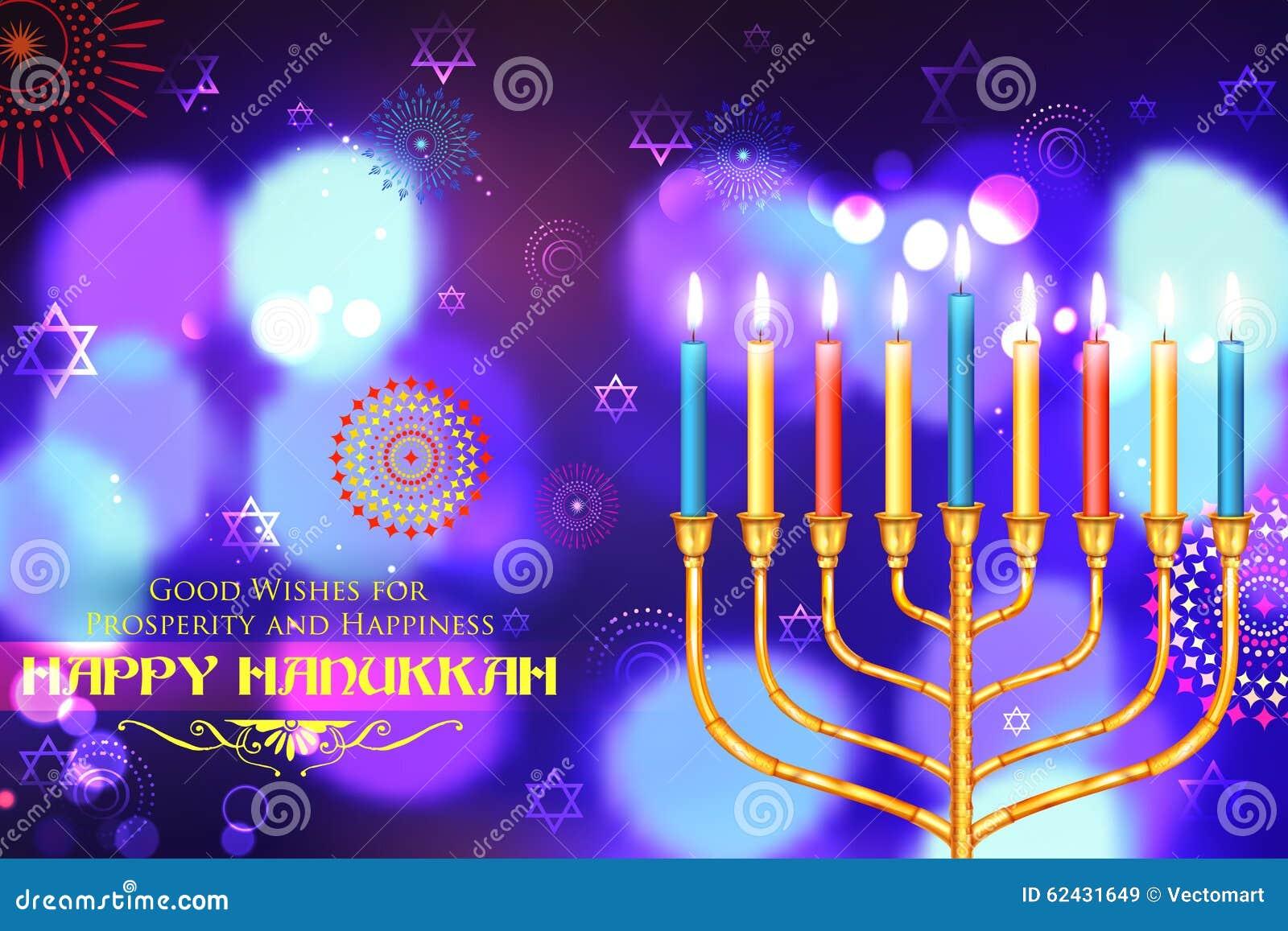 Hanukkah feliz, fundo judaico do feriado