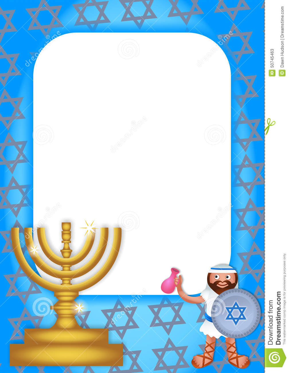 Hanukkah Border Papers by PaperDirect