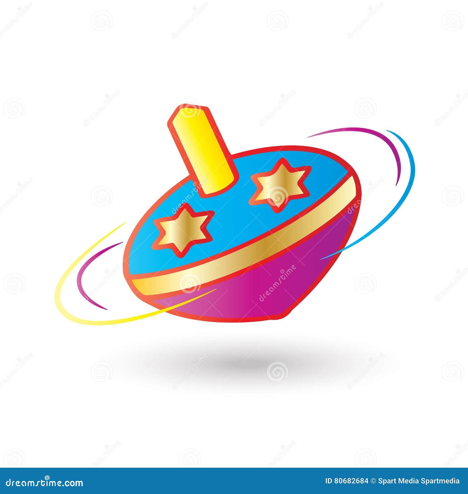 Hanukkah Spinning Top Stock Vector Illustration Of Donut 80682684