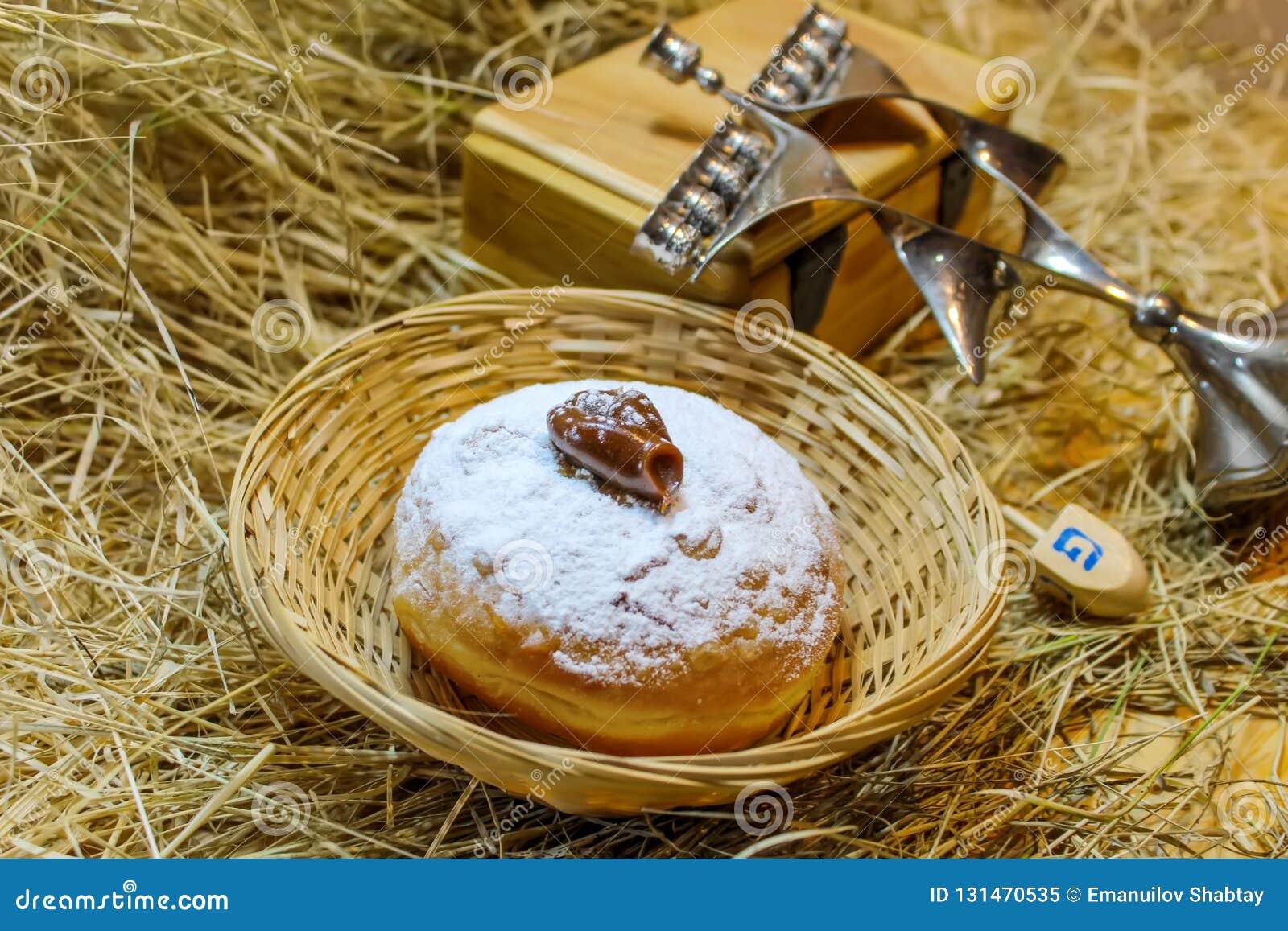 Hanukkah Sufganiyah for Jewish Holiday
