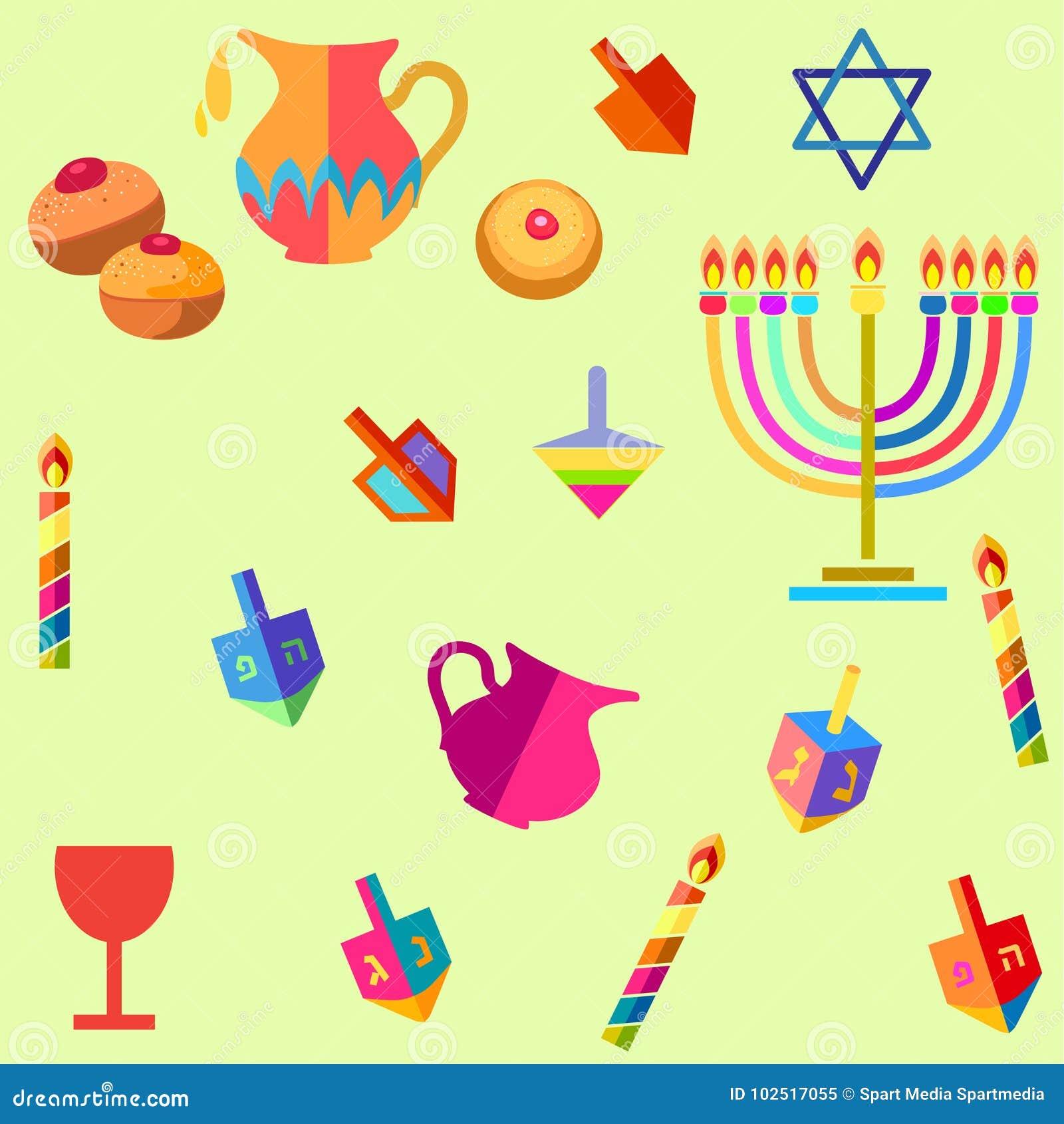 Hanukkah Symbols Stock Vector Illustration Of Candles 102517055