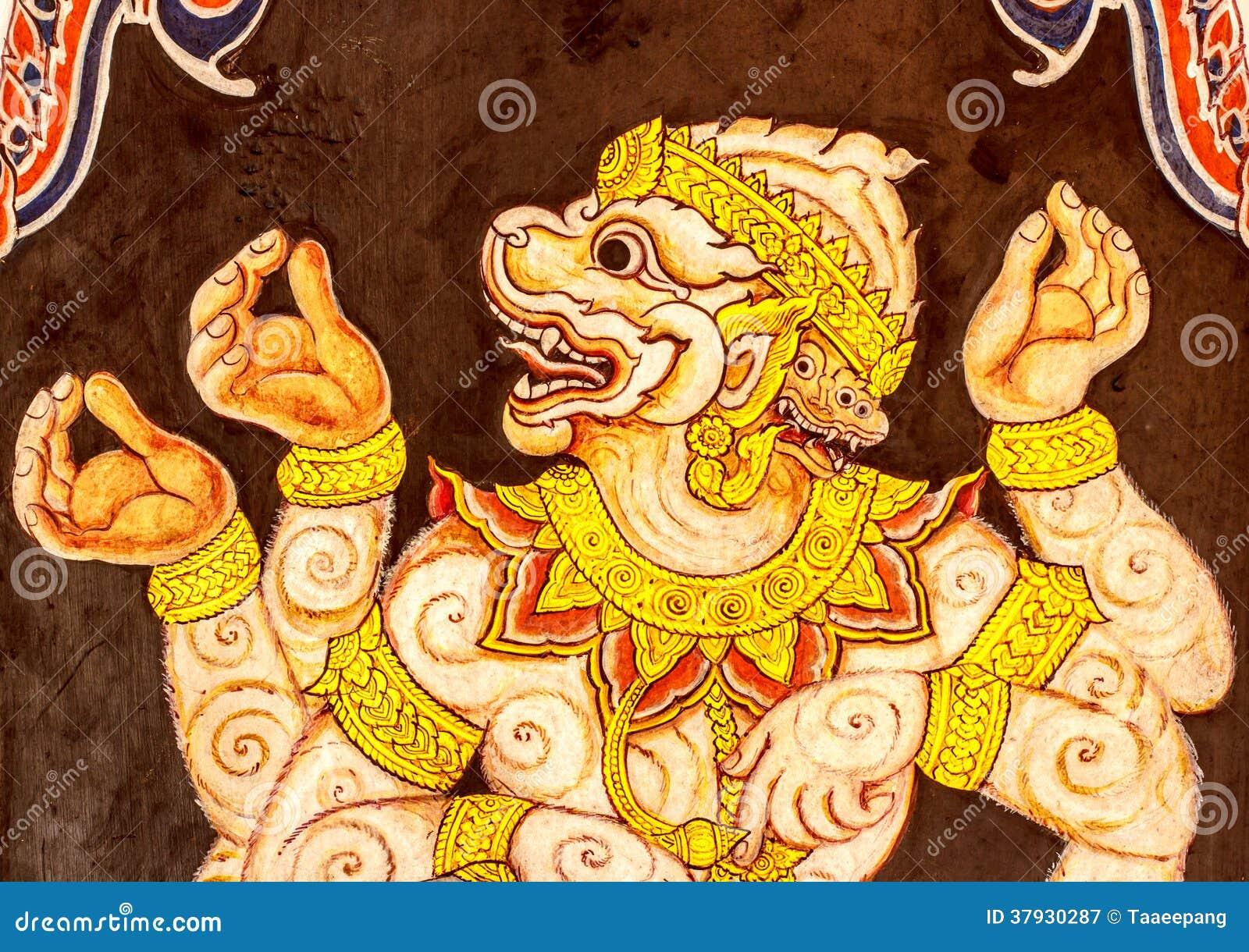 Картина Hanuman на стене