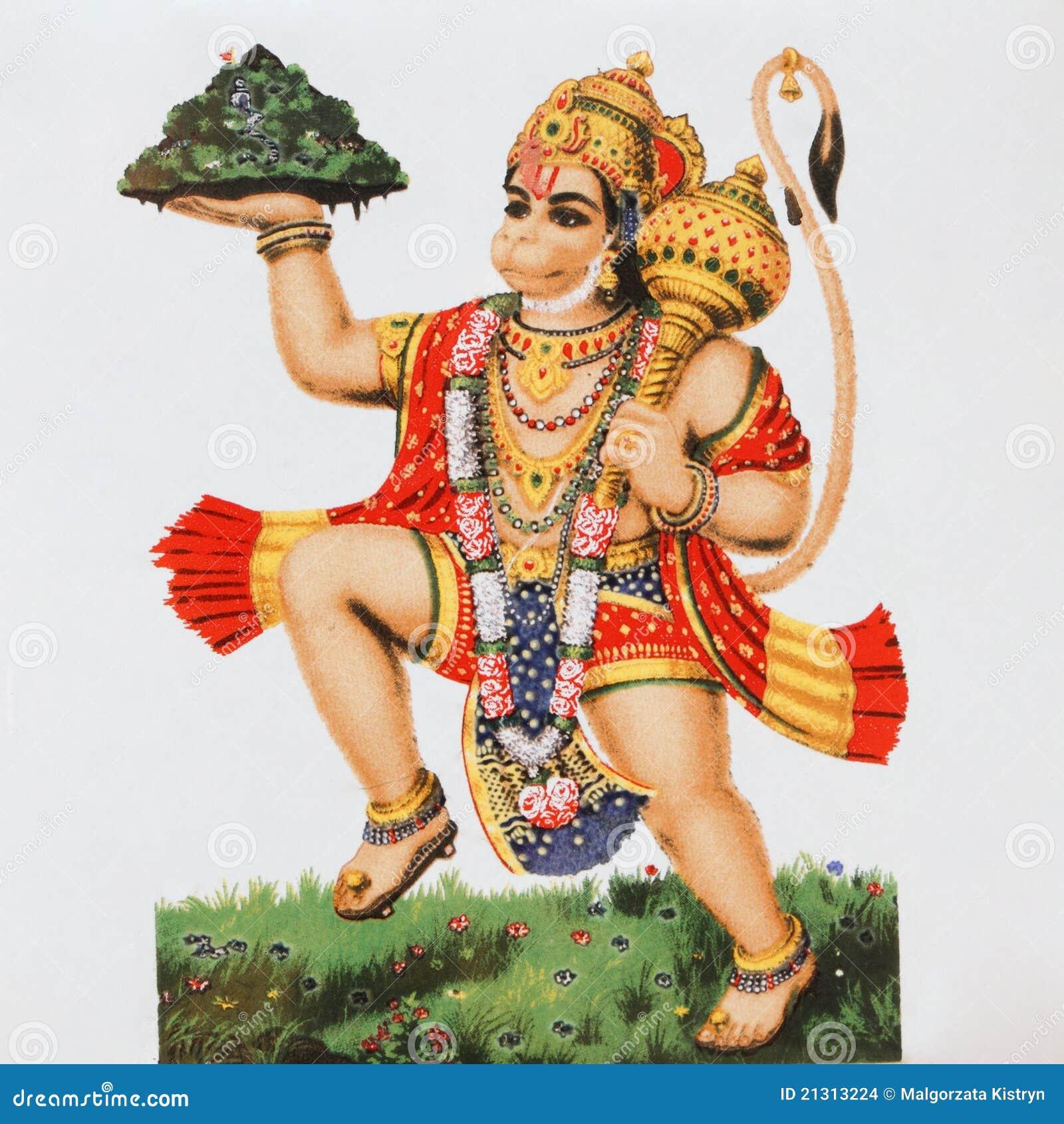 Ceramic tile with image of hindu deity Hanuman ( Monkey God).