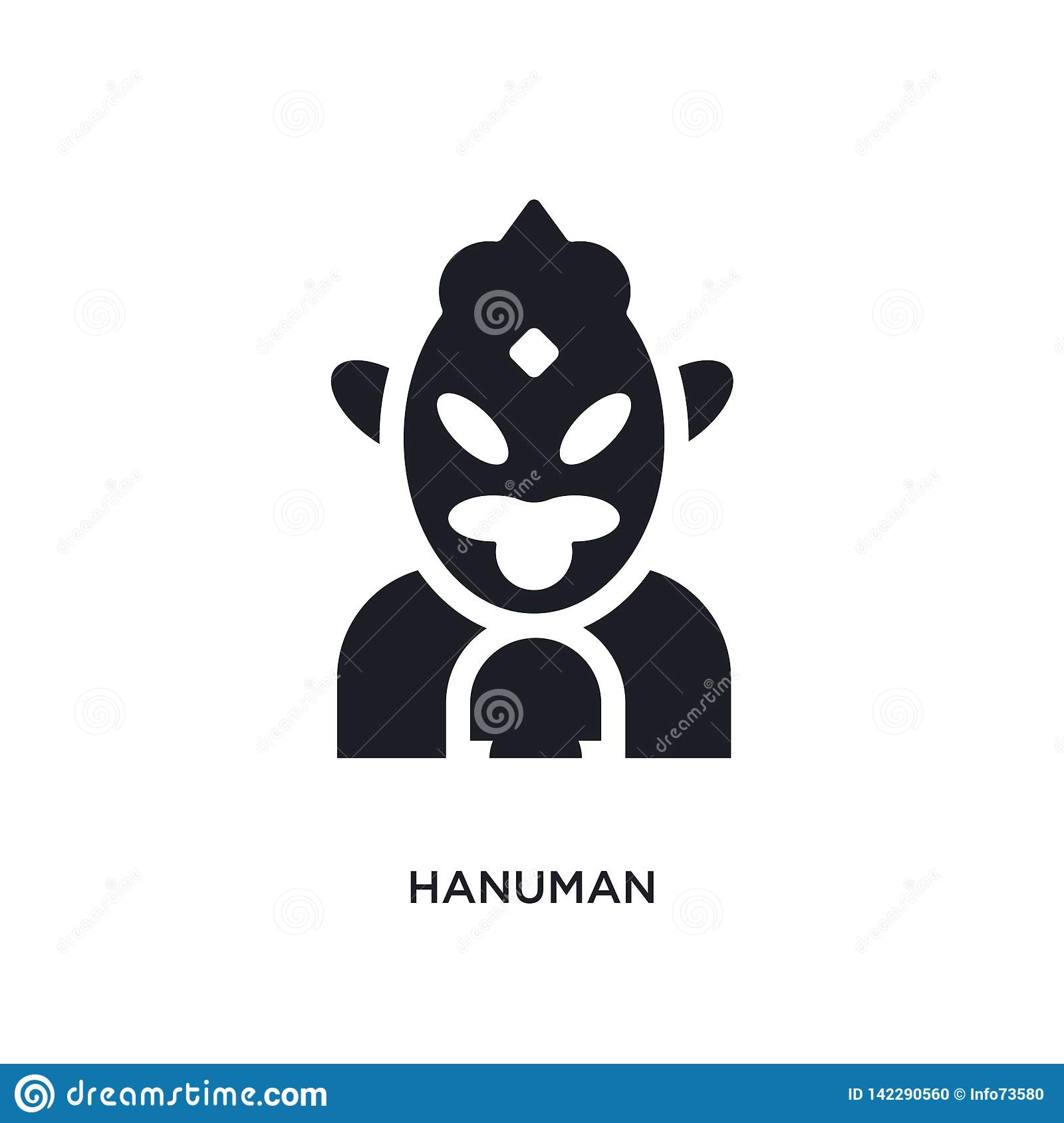 hanuman isolated icon. simple element illustration from india concept icons. hanuman editable logo sign symbol design on white