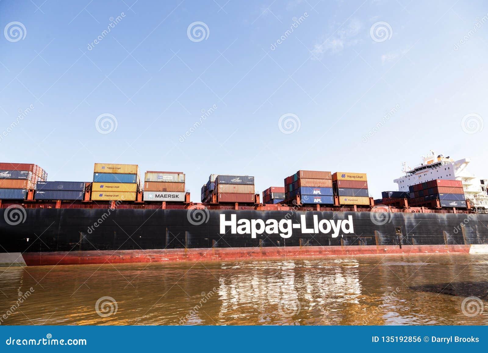 Hapag Lloyd editorial photo  Image of savannah, black