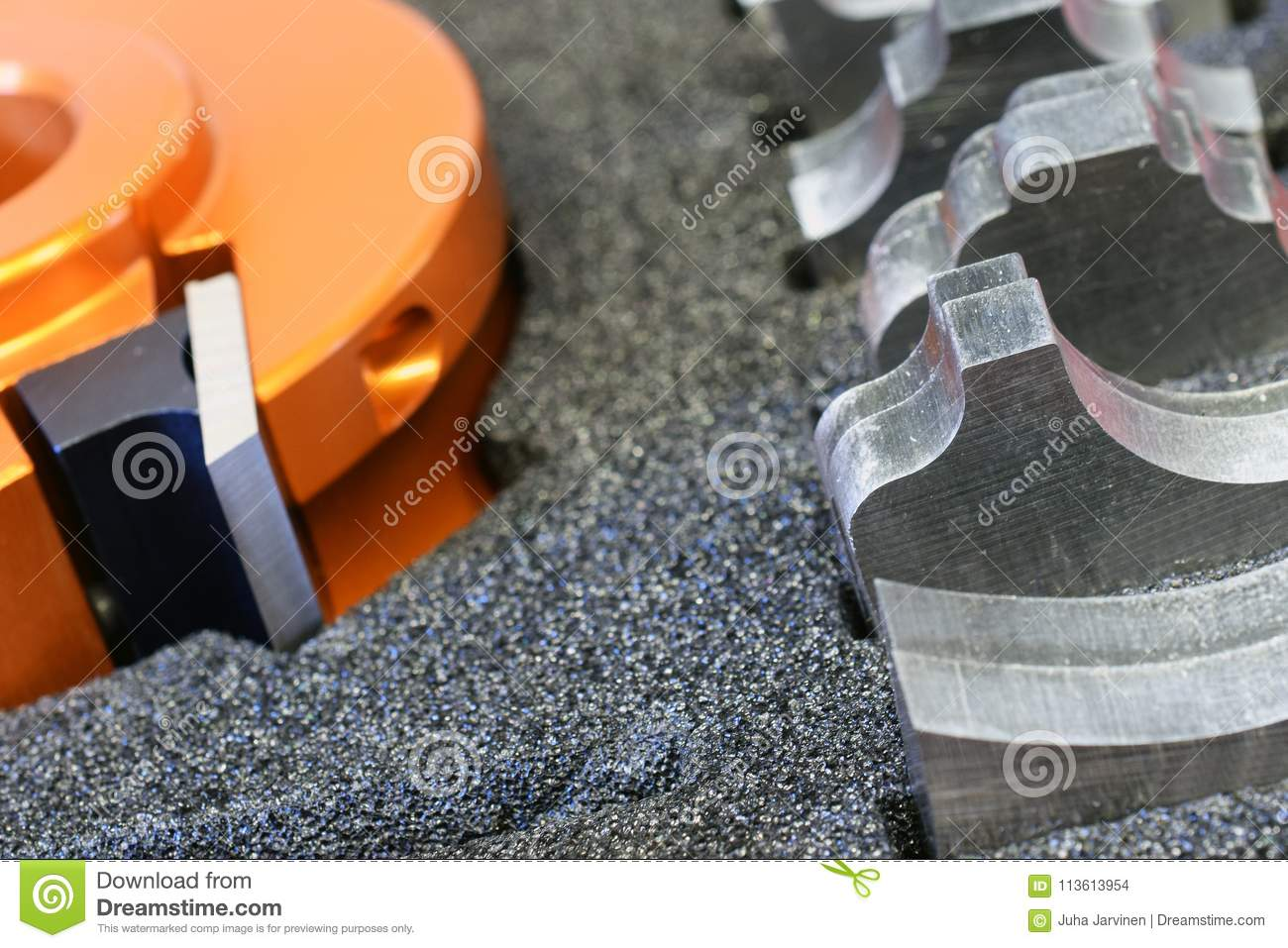 Shaper Cutter Head And Knives Stock Photo - Image of knives